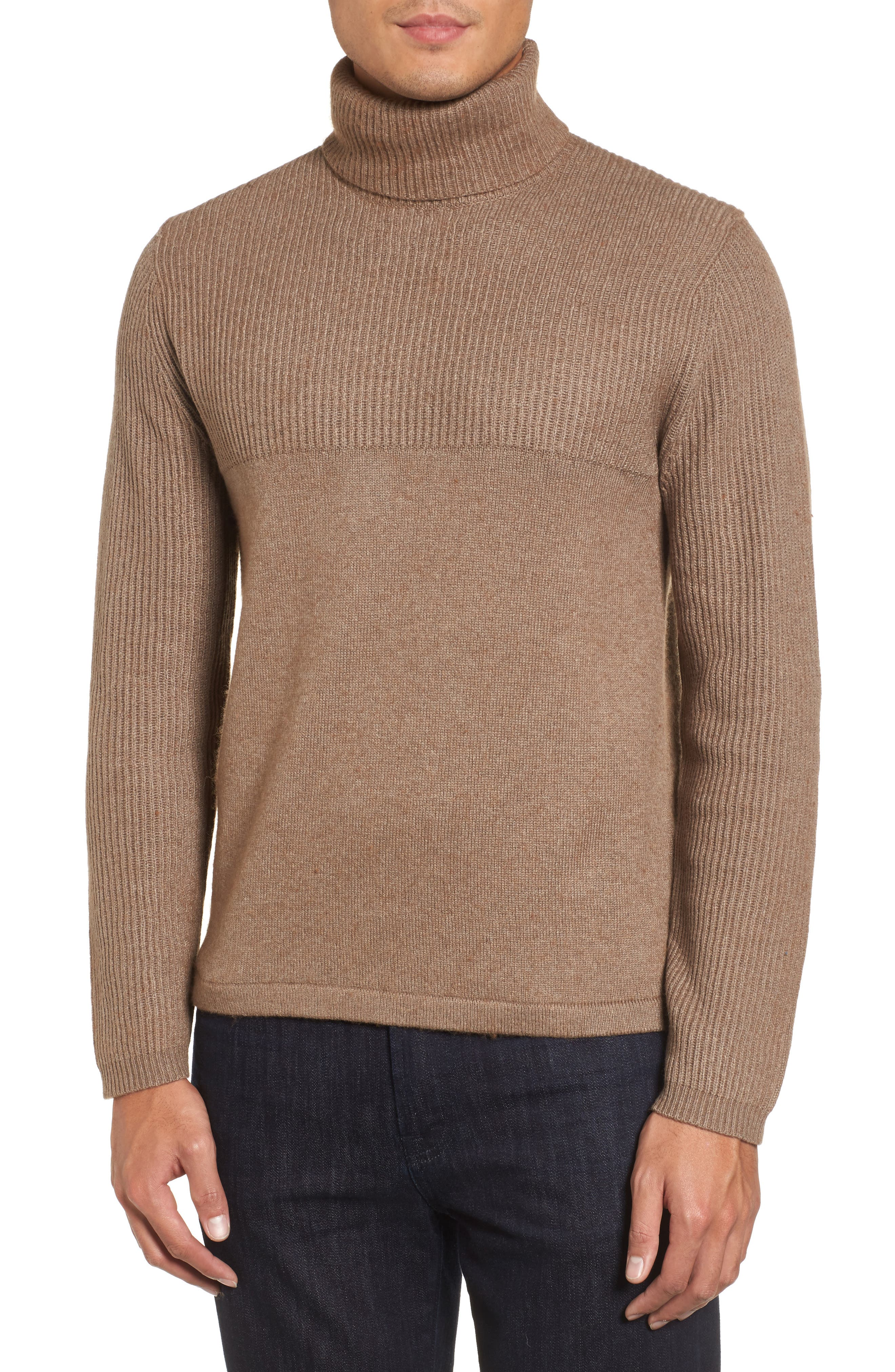 Alternate Image 1 Selected - Zachary Prell Mix Stitch Turtleneck Sweater
