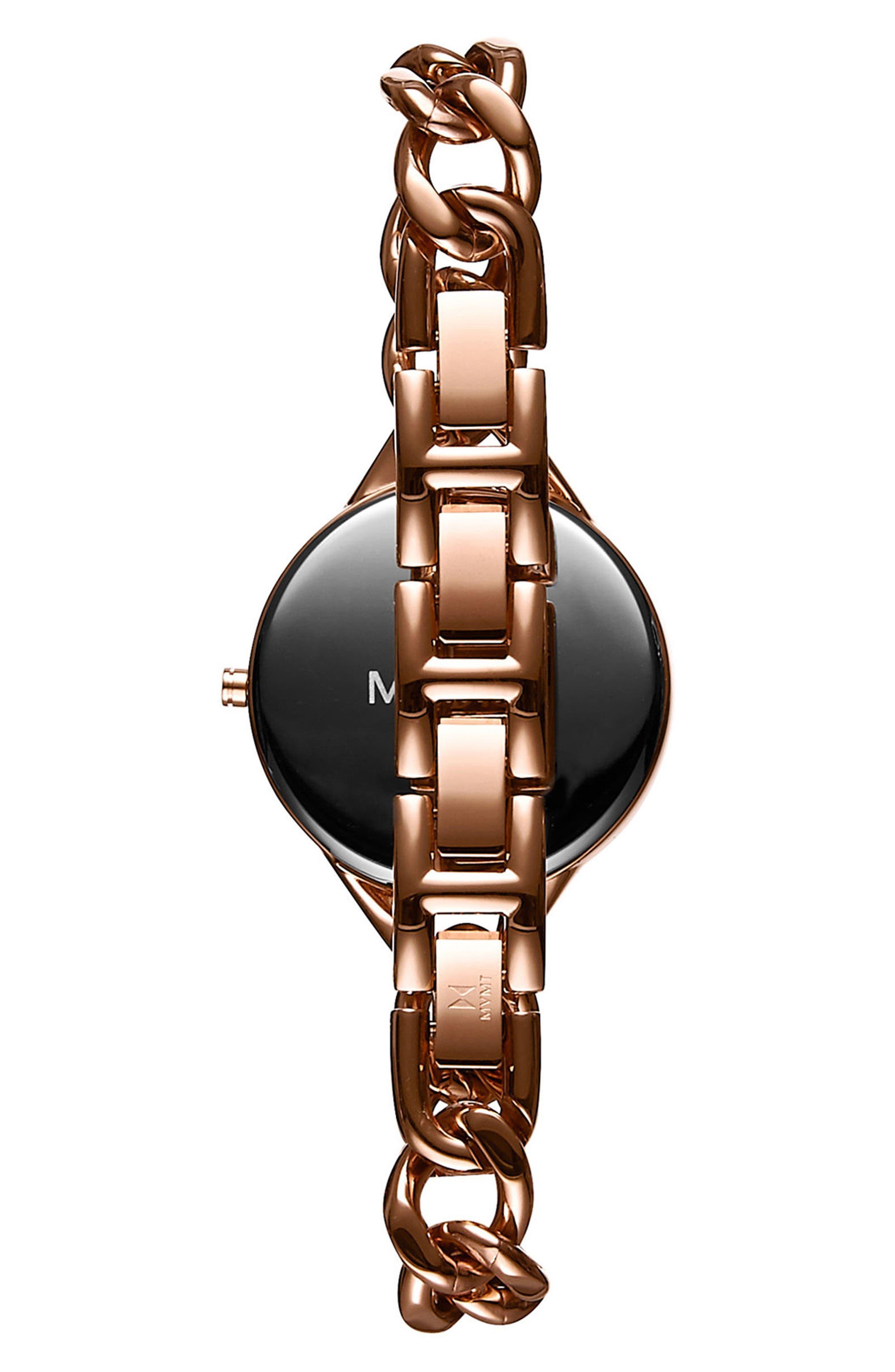 Gala Chain Bracelet Watch, 32mm,                             Alternate thumbnail 2, color,                             Rose Gold