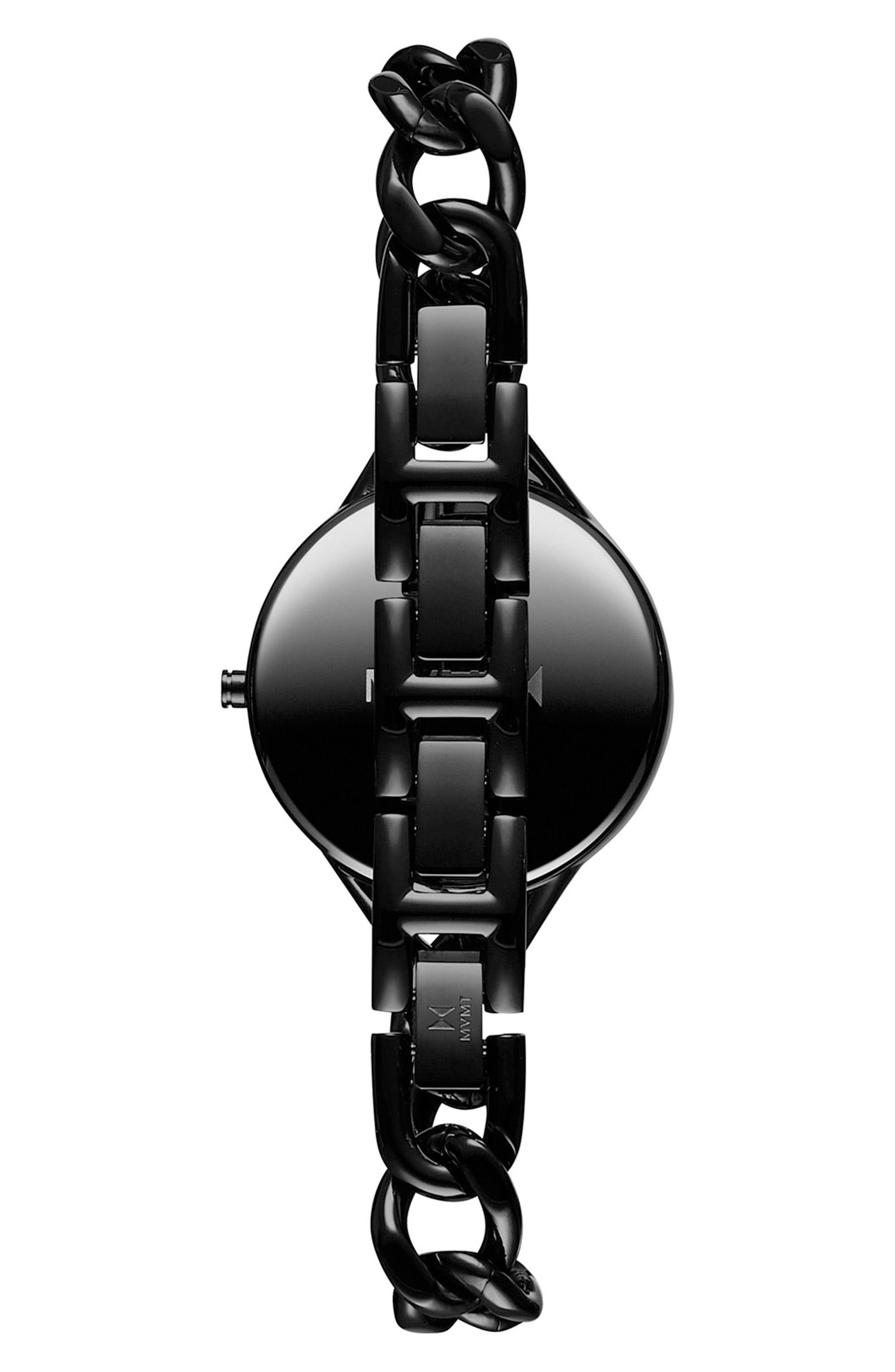 Gala Chain Bracelet Watch, 32mm,                             Alternate thumbnail 2, color,                             Black
