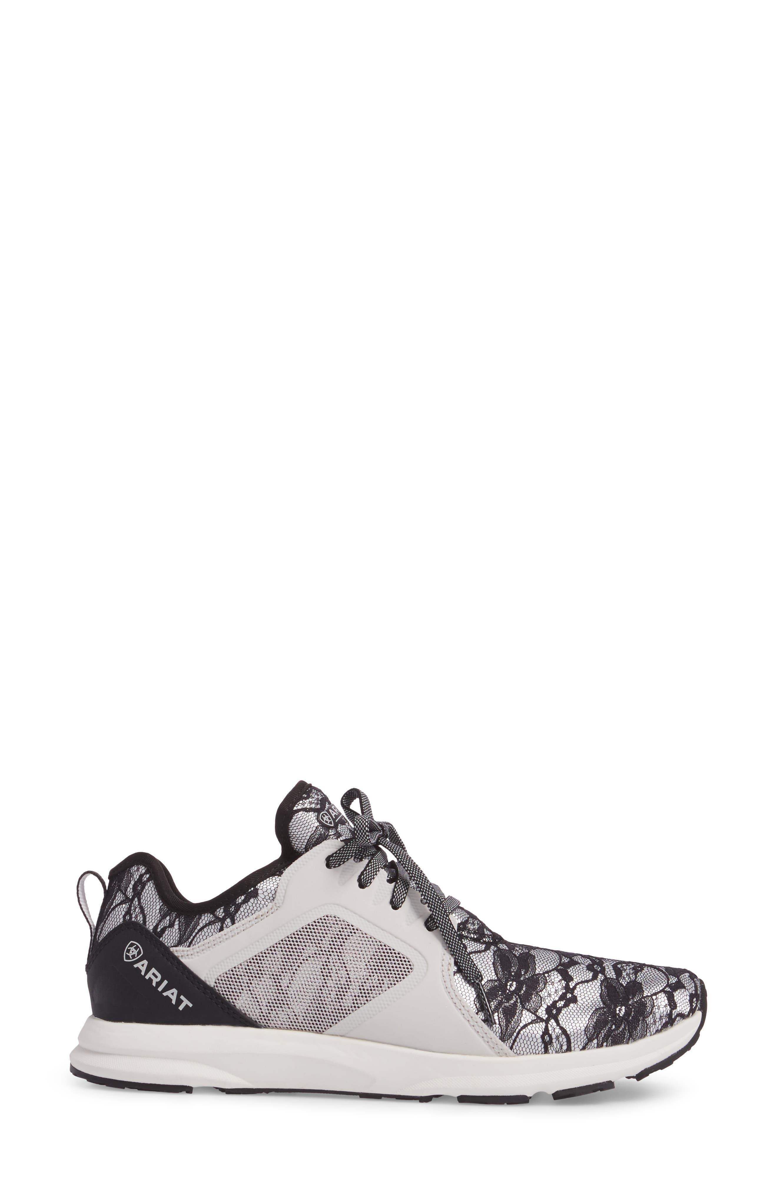 Fuse Print Sneaker,                             Alternate thumbnail 3, color,                             Black Lace