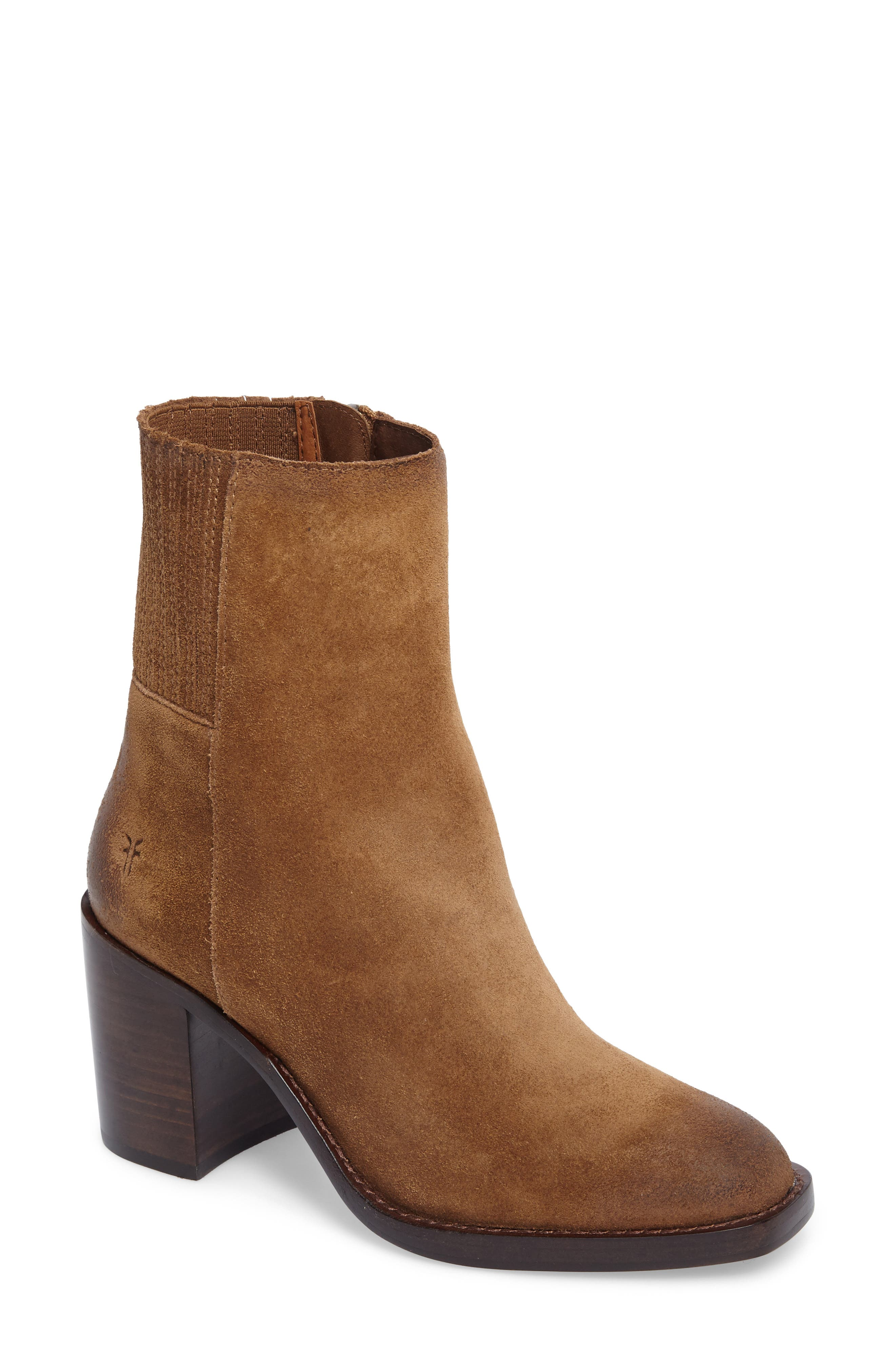 Pia Boot,                             Main thumbnail 1, color,                             Chestnut Suede