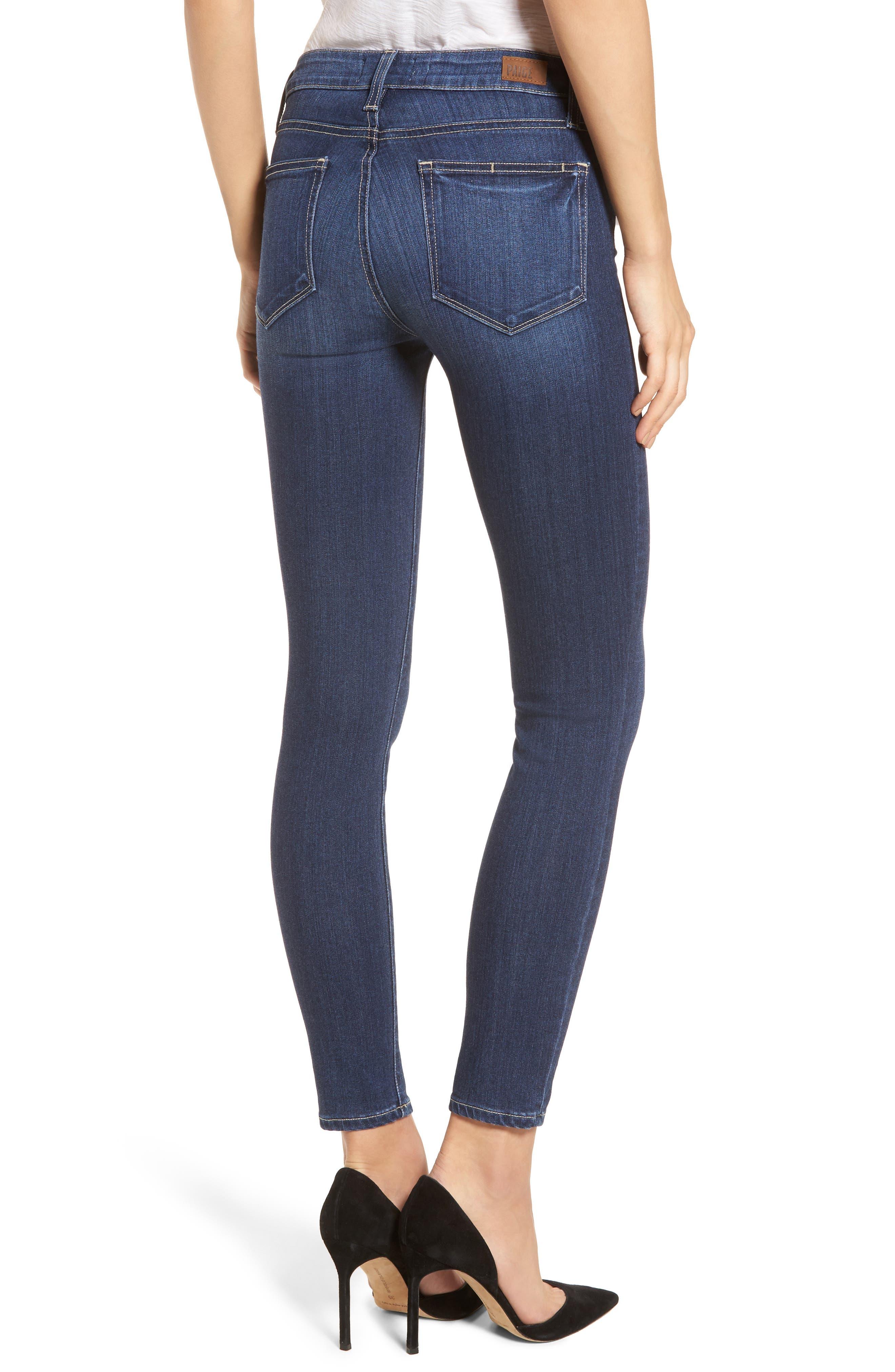 Transcend - Verdugo Ankle Skinny Jeans,                             Alternate thumbnail 2, color,                             Blue