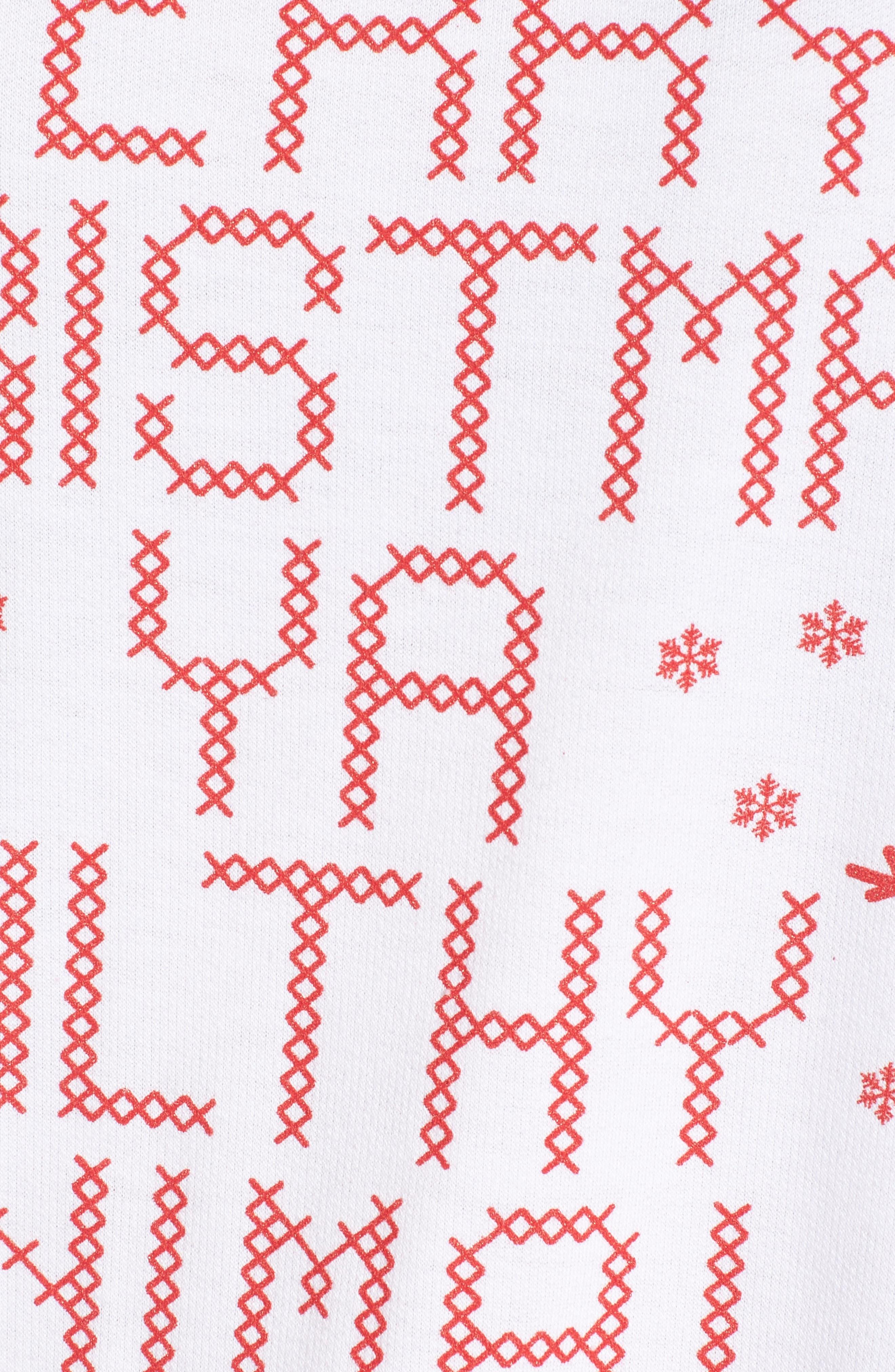 Merry Christmas Ya Filthy Animal Sweatshirt,                             Alternate thumbnail 4, color,                             White