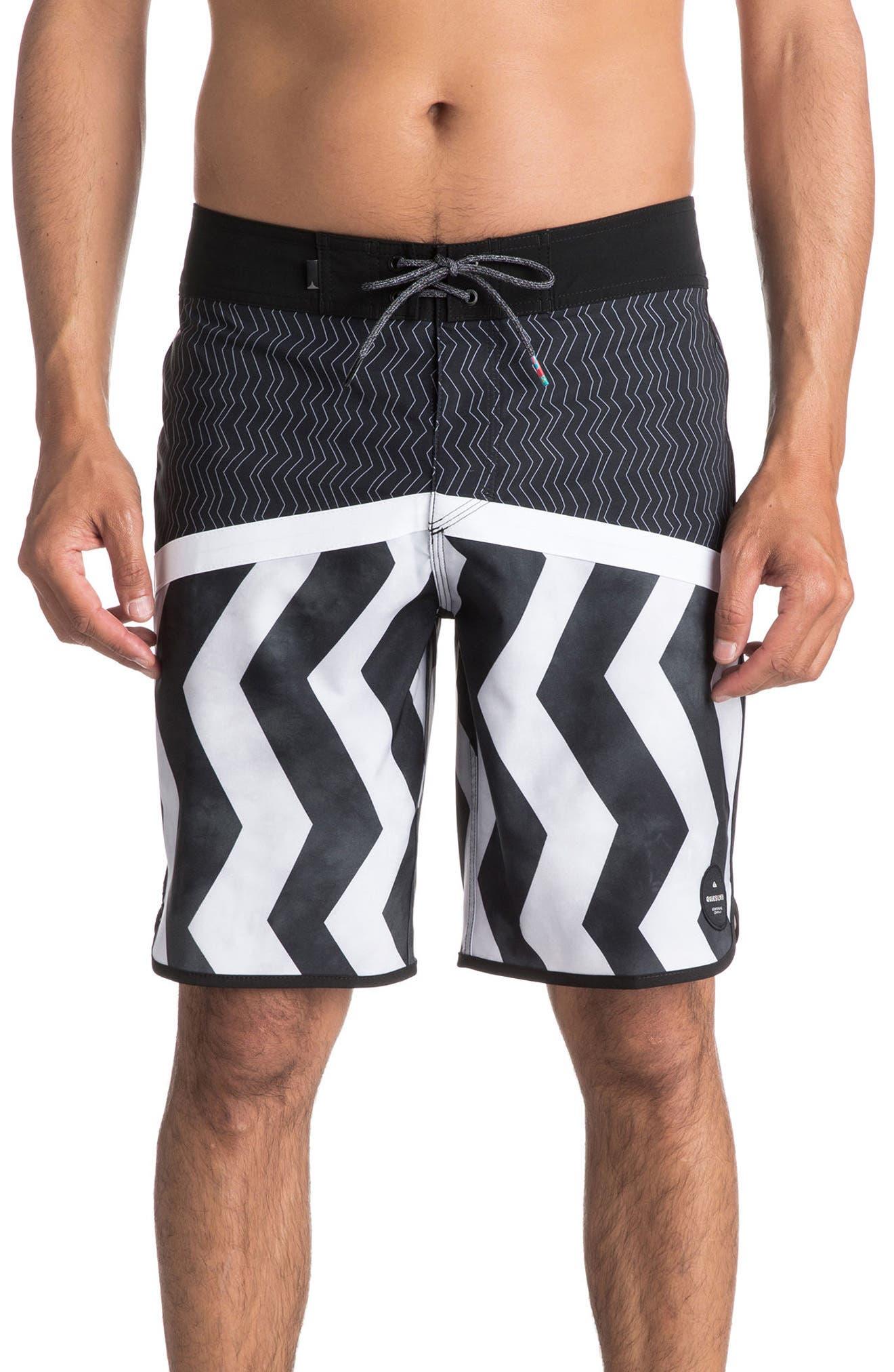 Crypto Zigzig Board Shorts,                         Main,                         color, Black