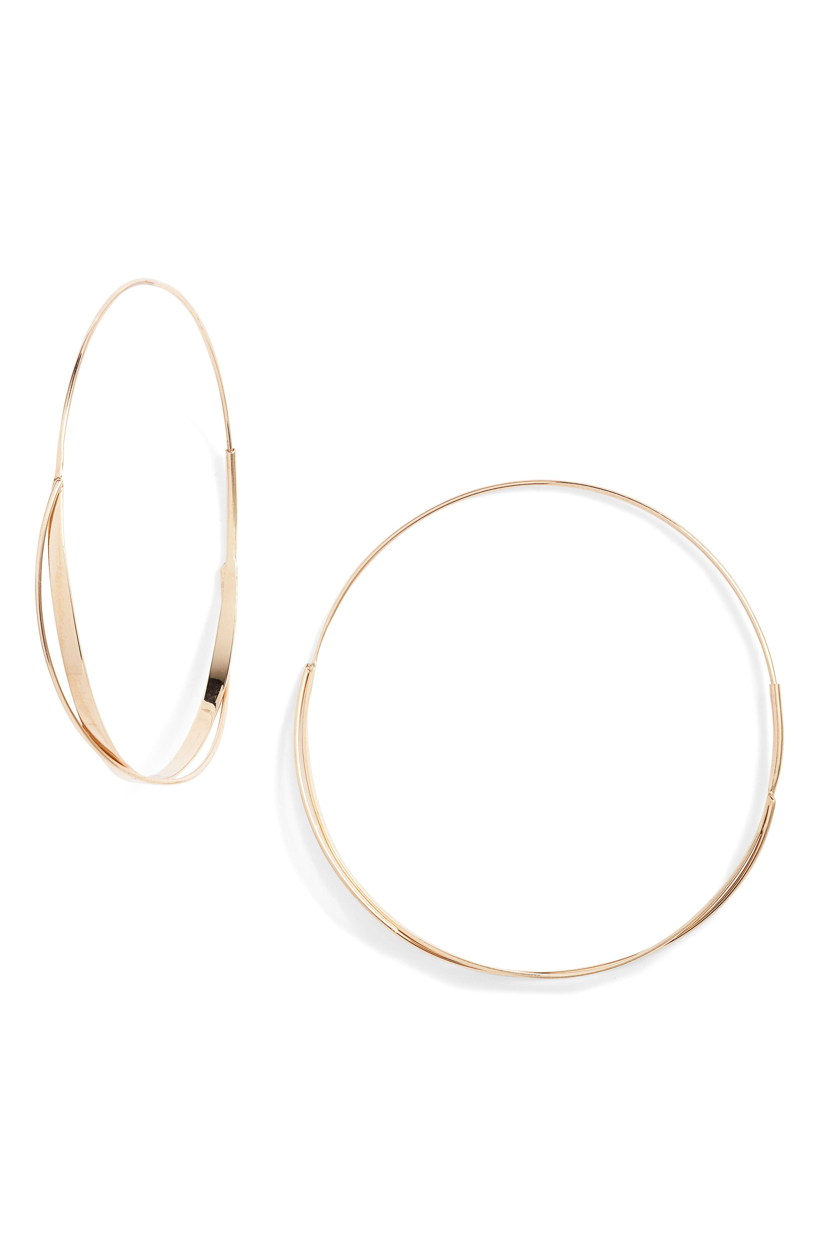Lana Jewelry Medium Crisscross Magic Hoop