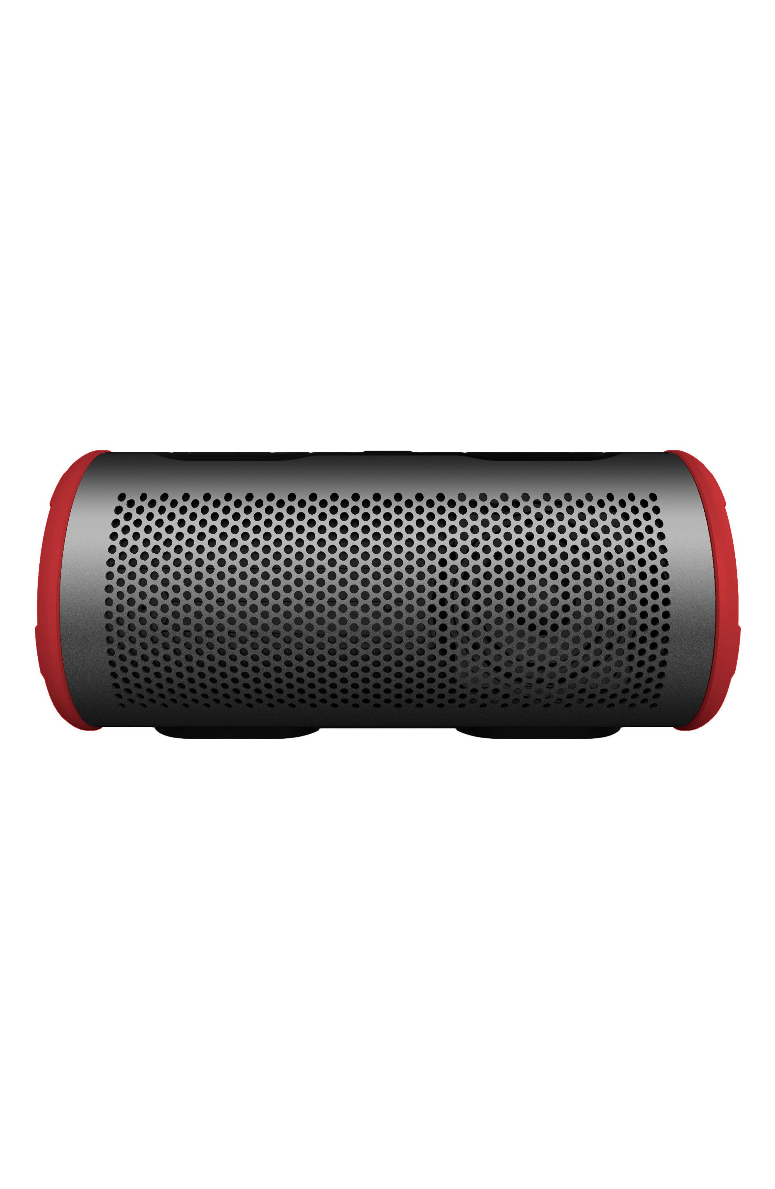 Stryde 360 Sound Waterproof Bluetooth Speaker,                             Main thumbnail 1, color,                             Grey/ Red