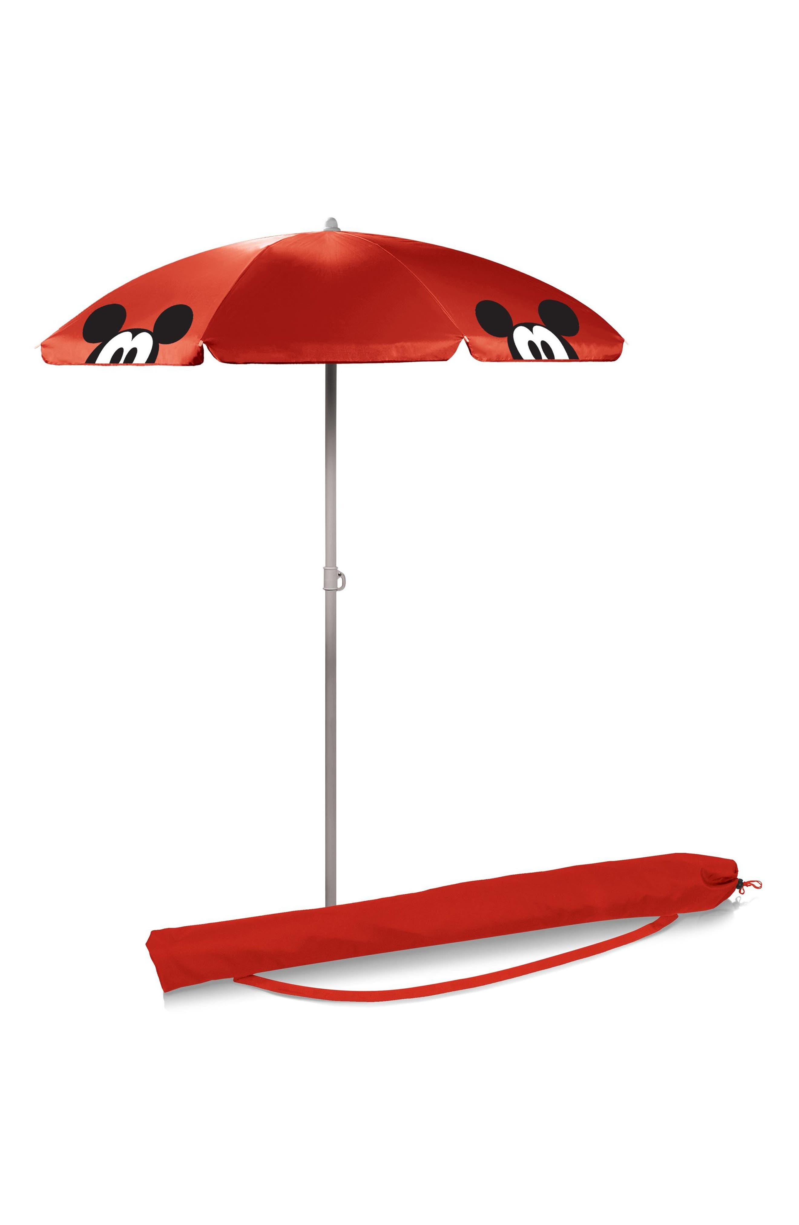 Disney<sup>®</sup> Mickey Mouse Portable Beach & Picnic Umbrella,                             Alternate thumbnail 2, color,                             Mickey