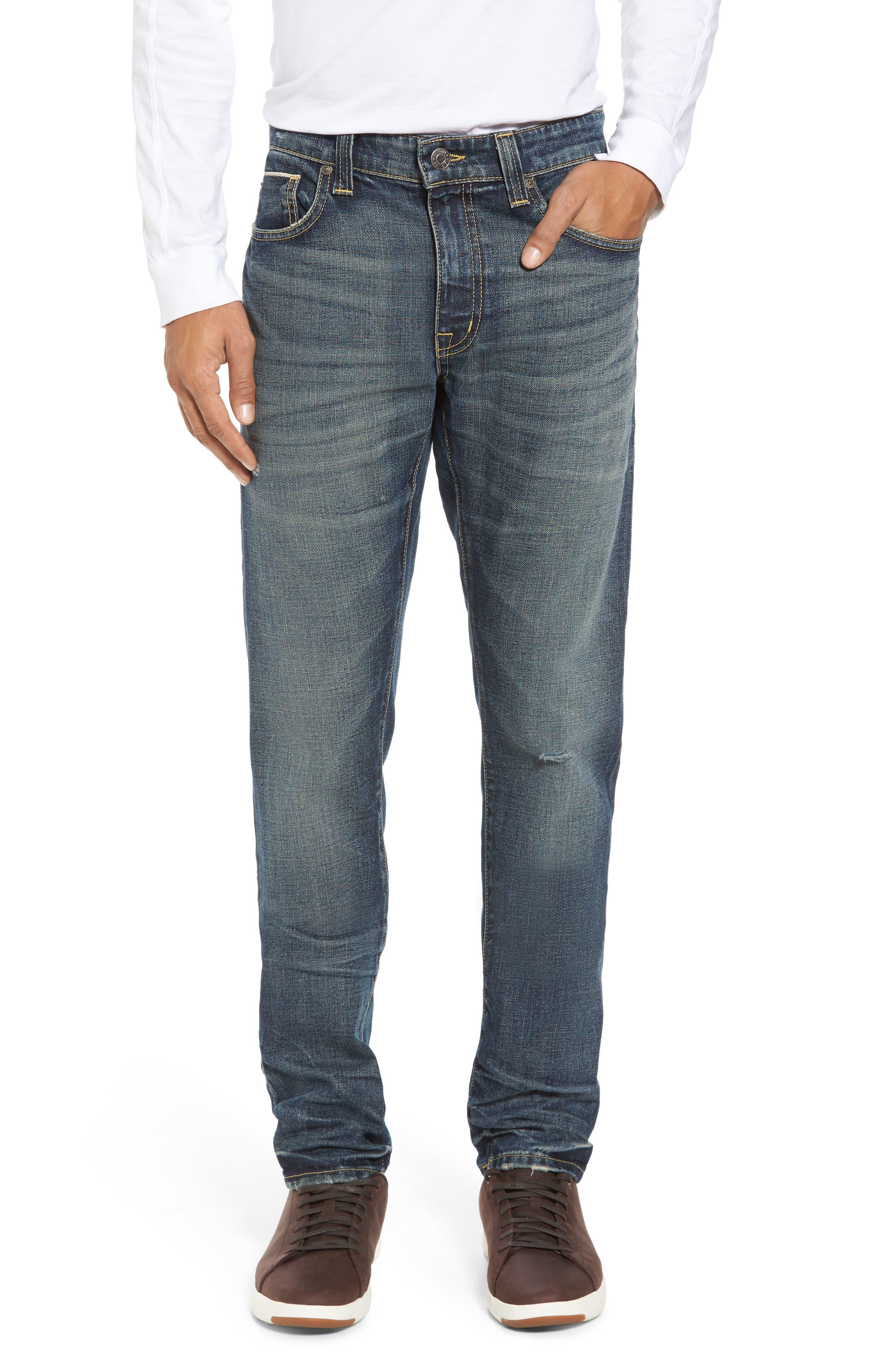 Fideltiy Denim Torino Slim Fit Jeans,                         Main,                         color, Crystal Blue