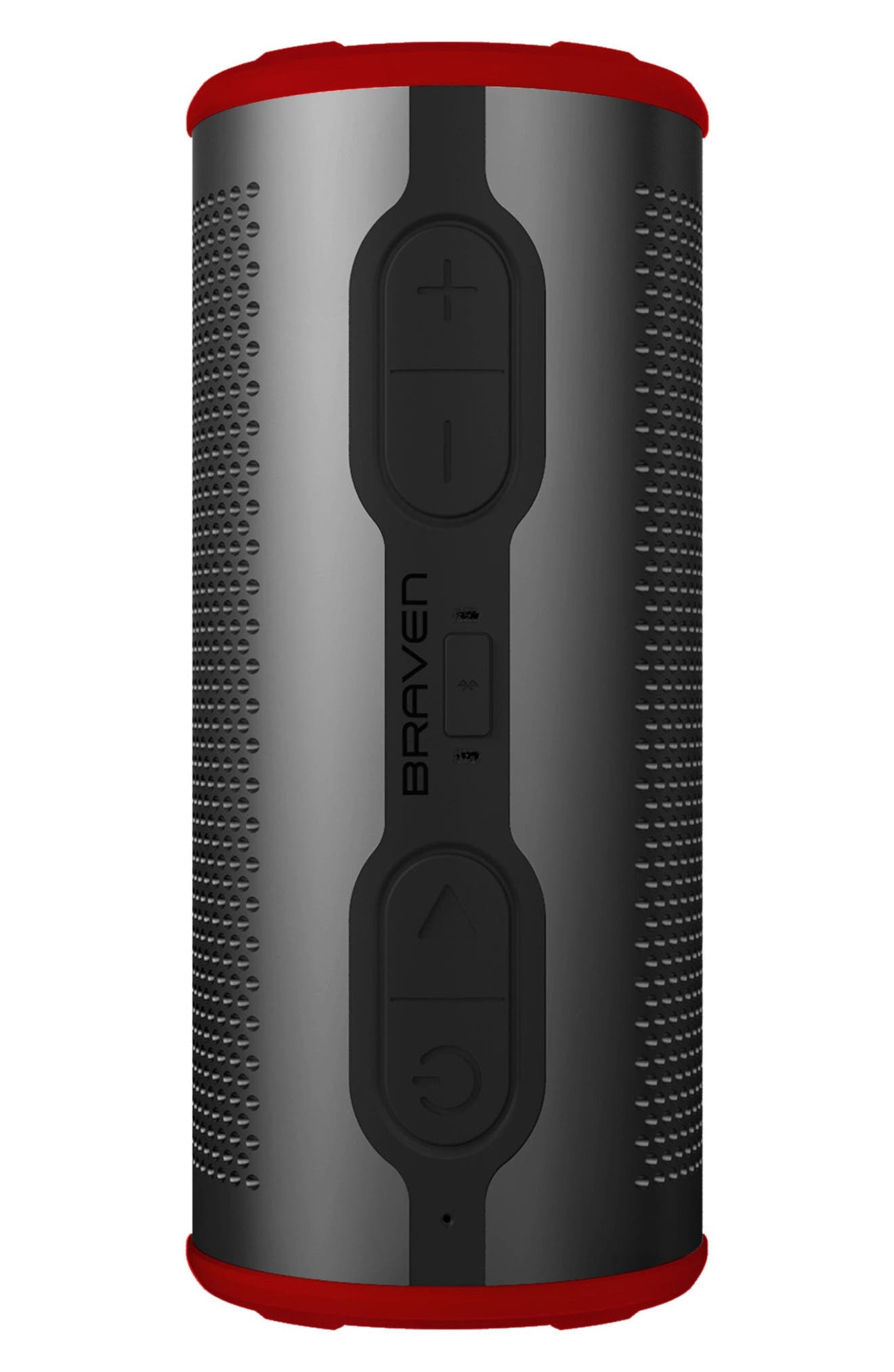 Stryde 360 Sound Waterproof Bluetooth Speaker,                             Alternate thumbnail 4, color,                             Grey/ Red