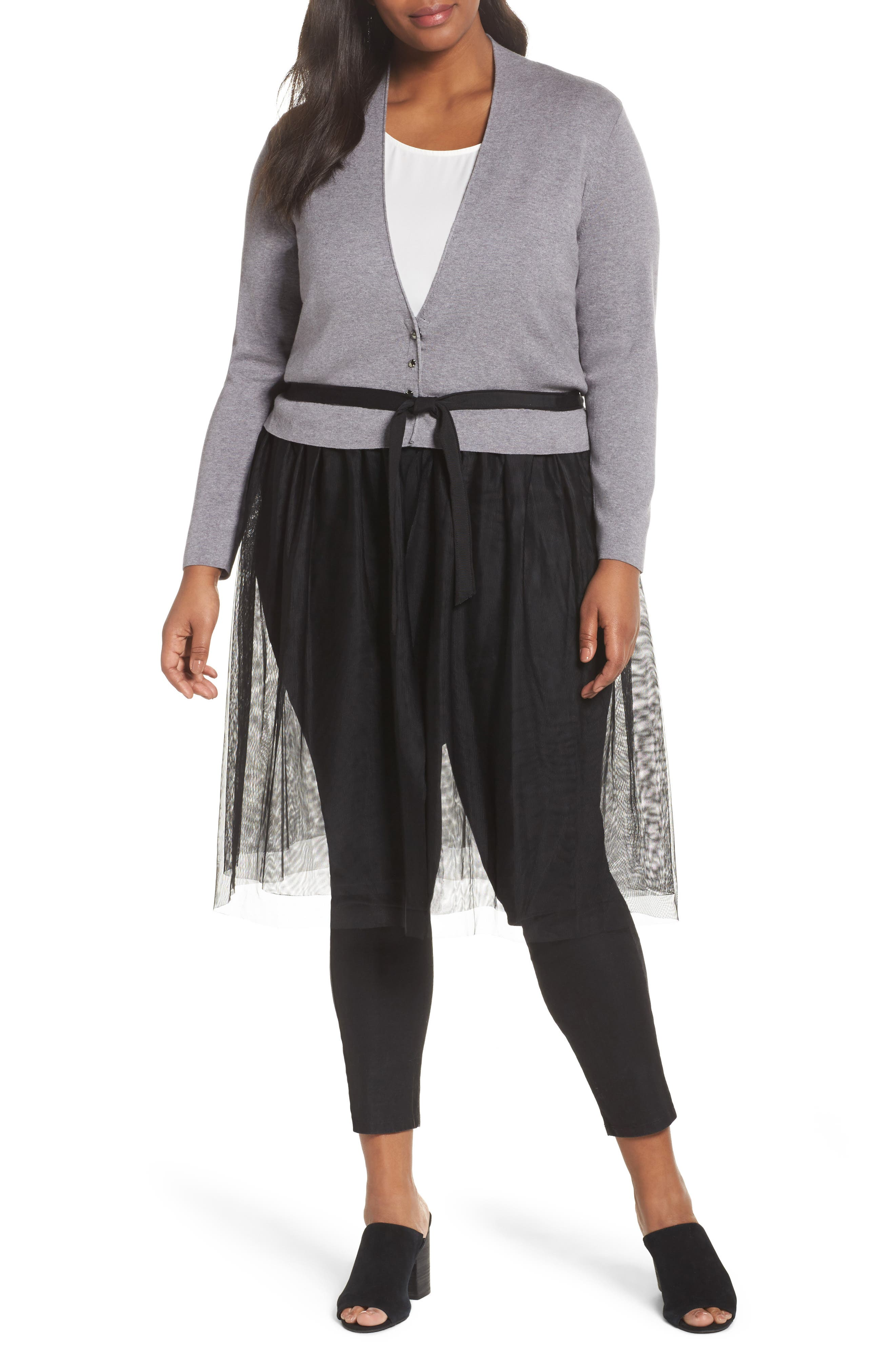 NIC+ZOE Tulle Time Cardigan (Plus Size)