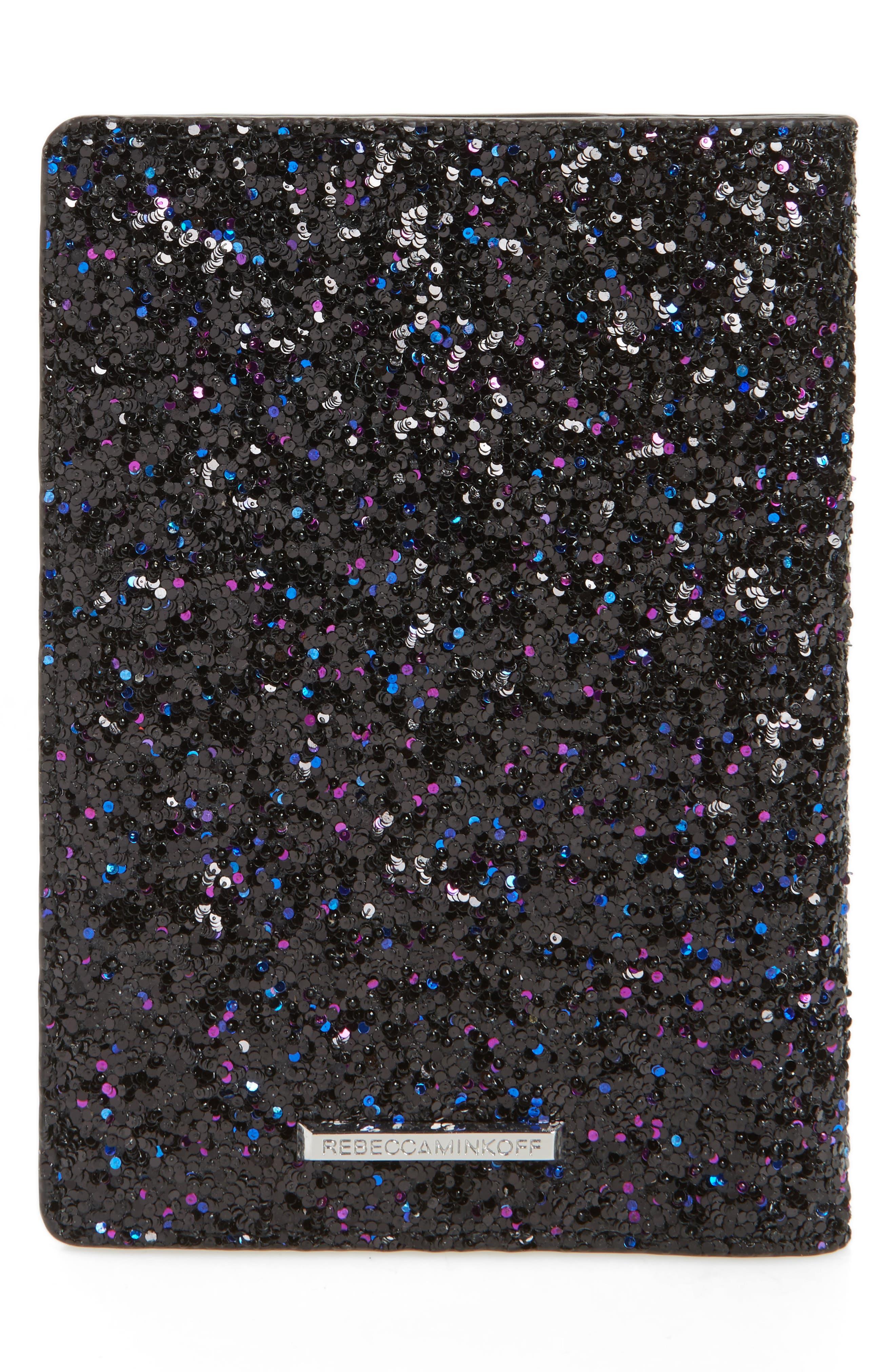Glitter Passport Holder,                             Alternate thumbnail 4, color,                             Purple Multi