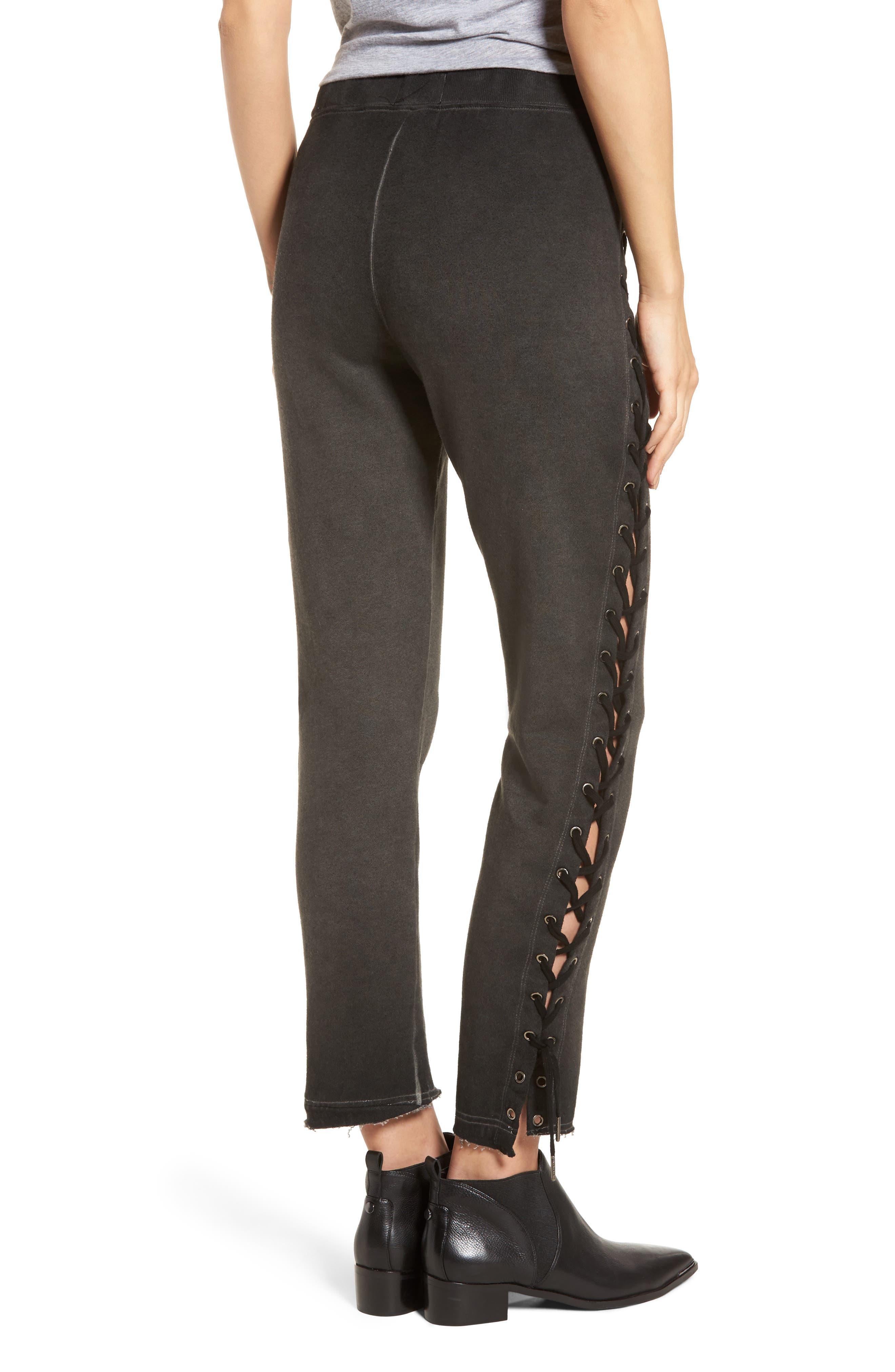 Alternate Image 2  - Pam & Gela Lace-Up Sweatpants
