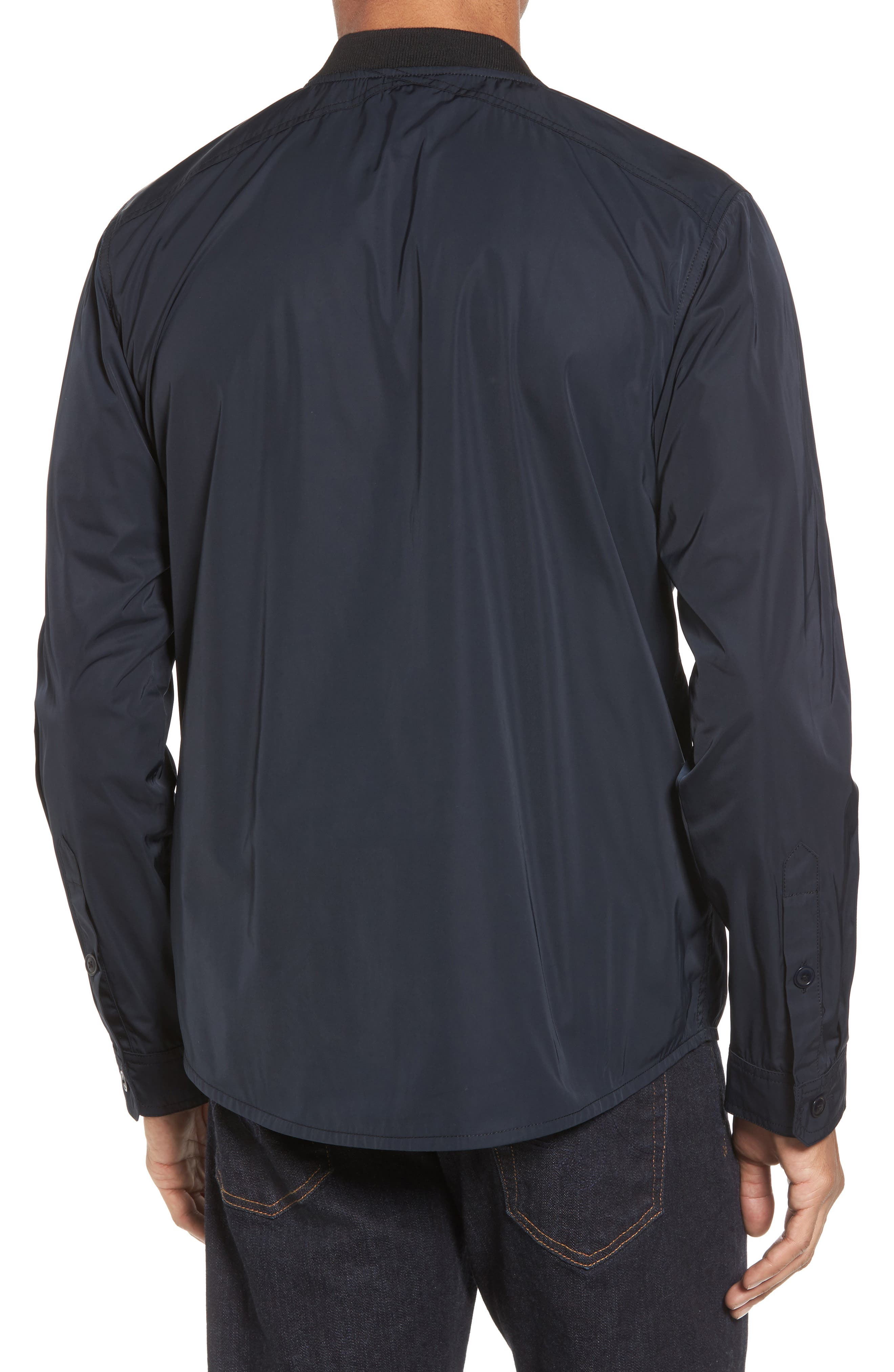 International Snap Front Overshirt,                             Alternate thumbnail 2, color,                             Black