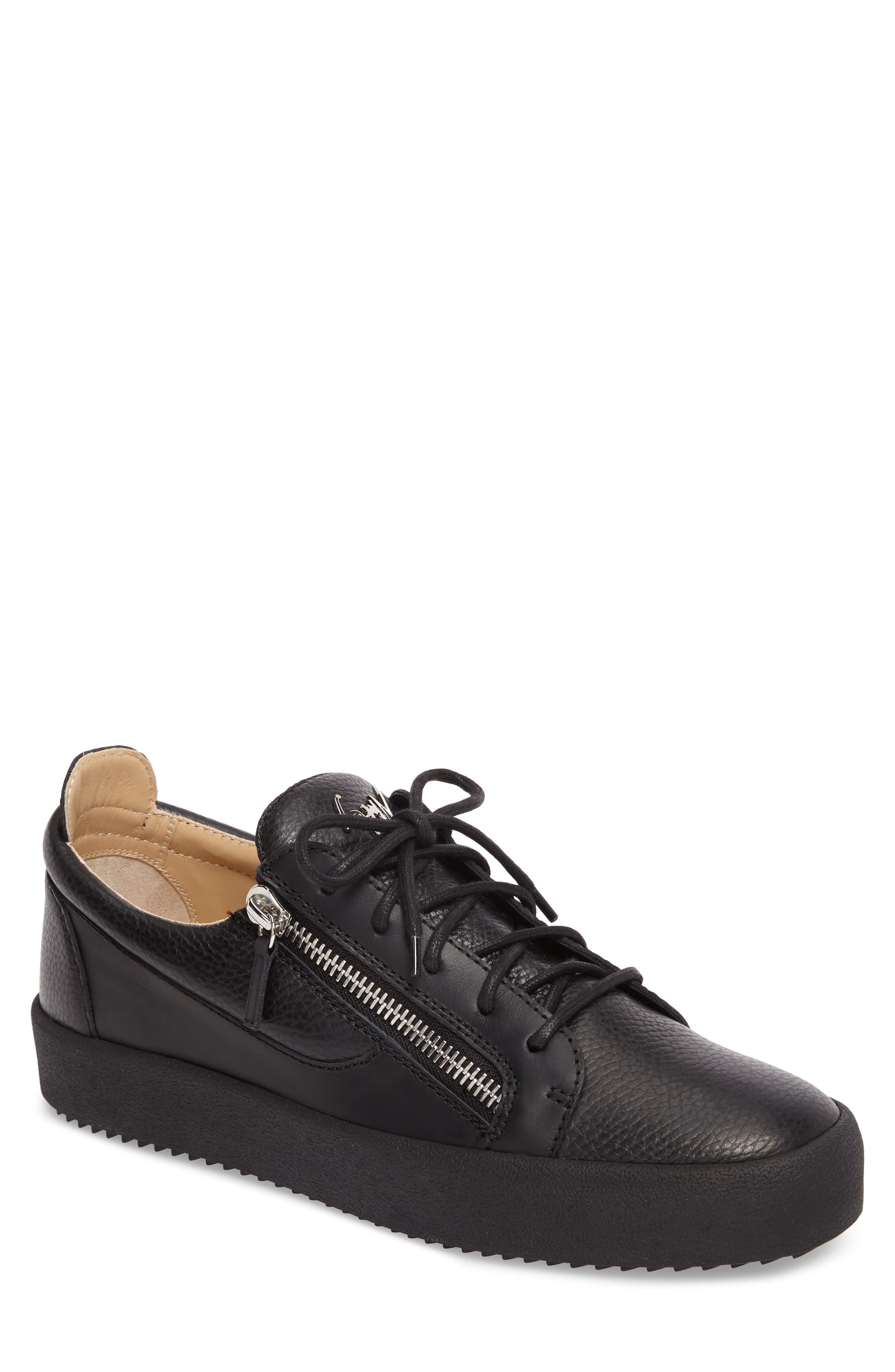 Low-Top Sneaker,                             Main thumbnail 1, color,                             Black