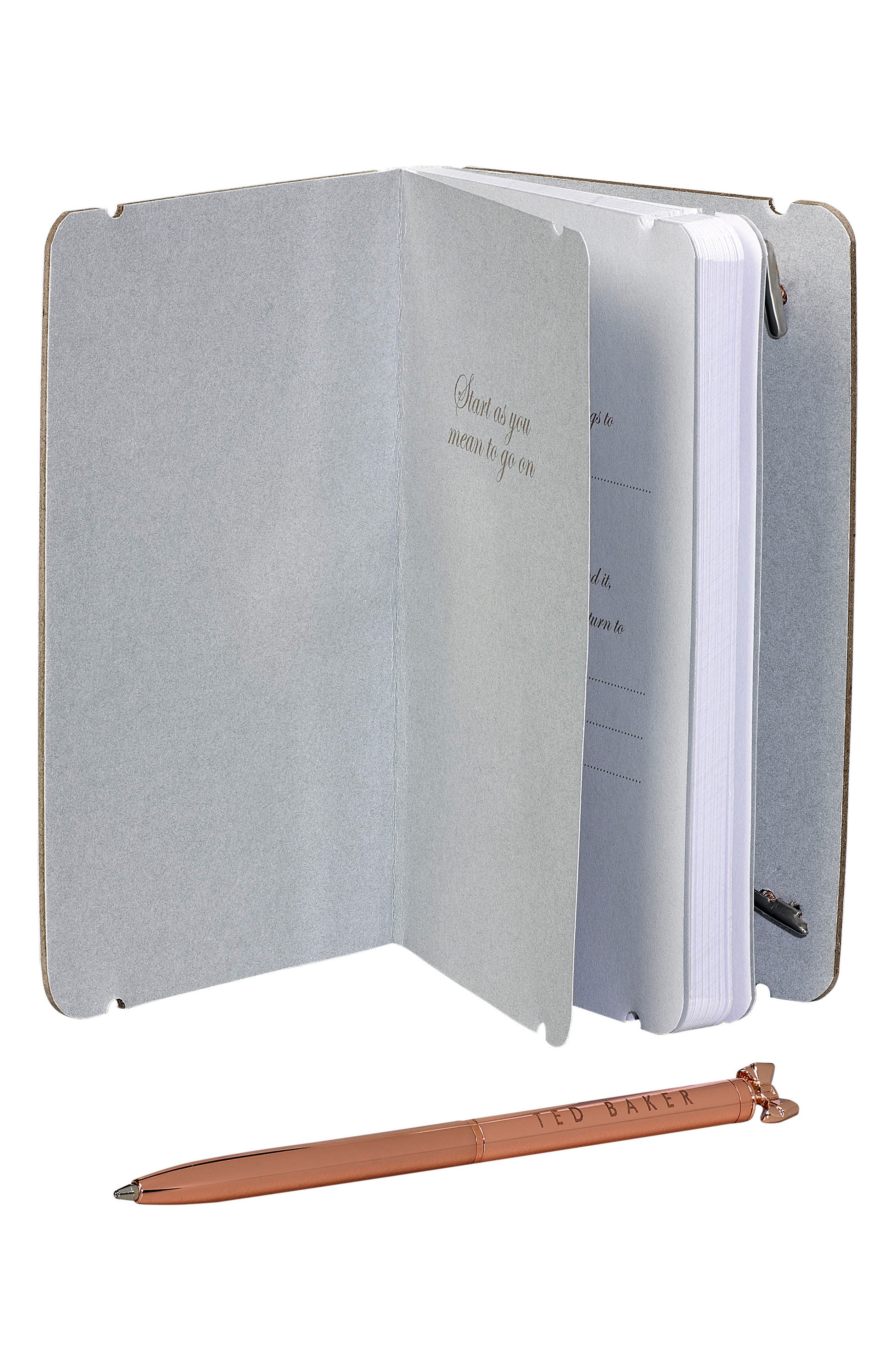Alternate Image 3  - Ted Baker London Mini Notebook & Pen Set