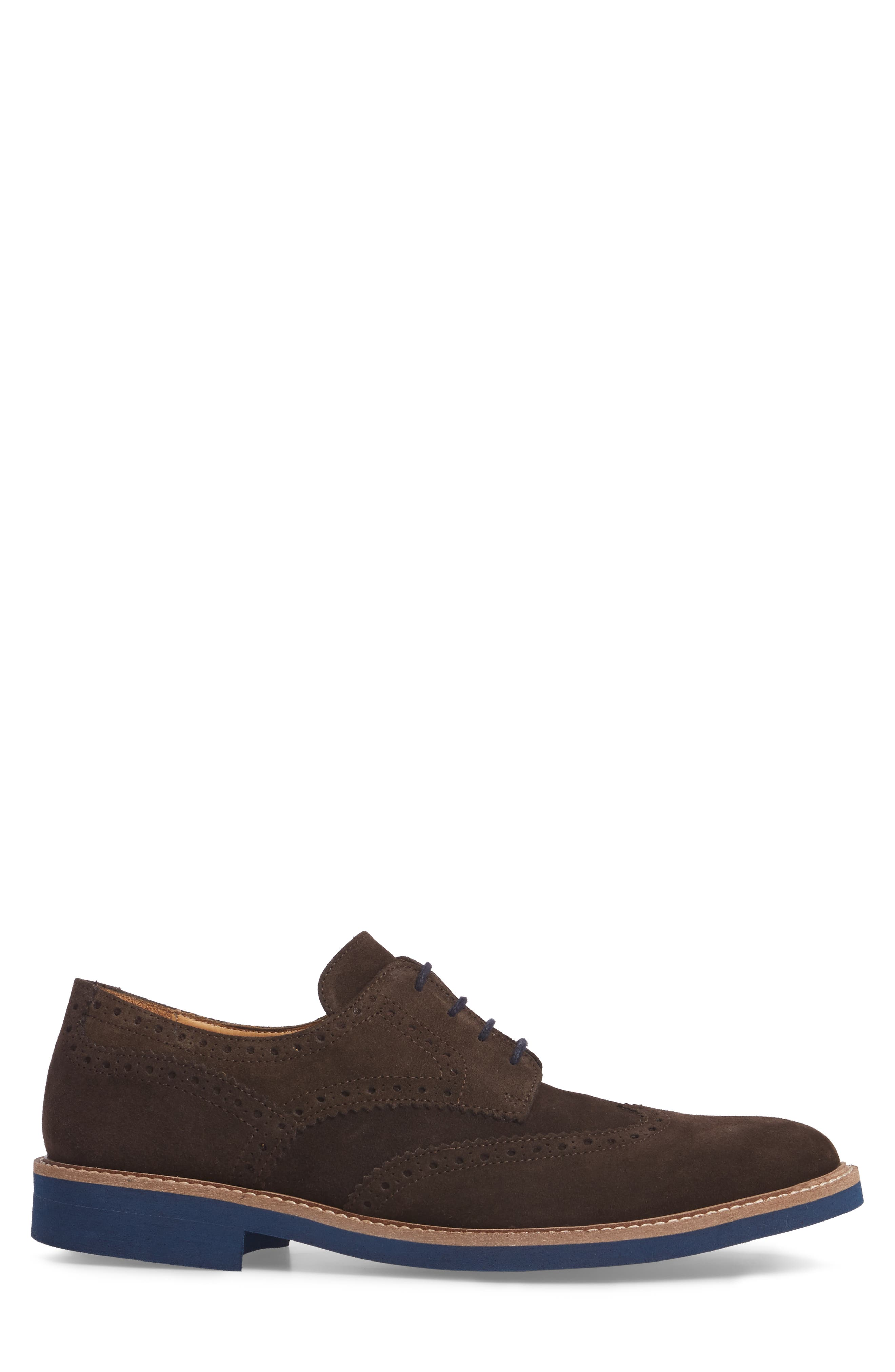Southports Wingtip,                             Alternate thumbnail 3, color,                             Brown Suede