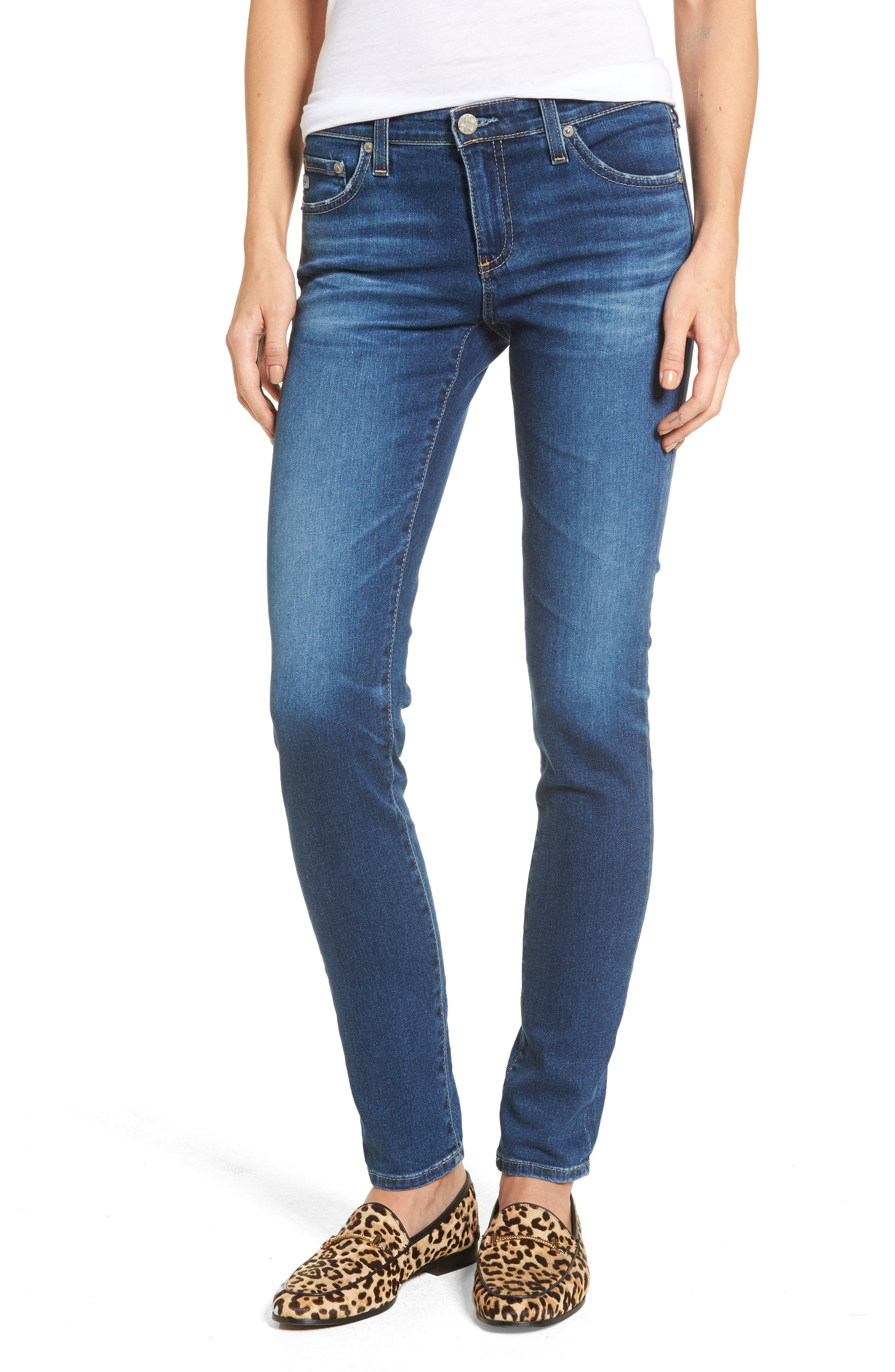 The Stilt Cigarette Skinny Jeans,                             Main thumbnail 1, color,                             8 Years Blue Portrait