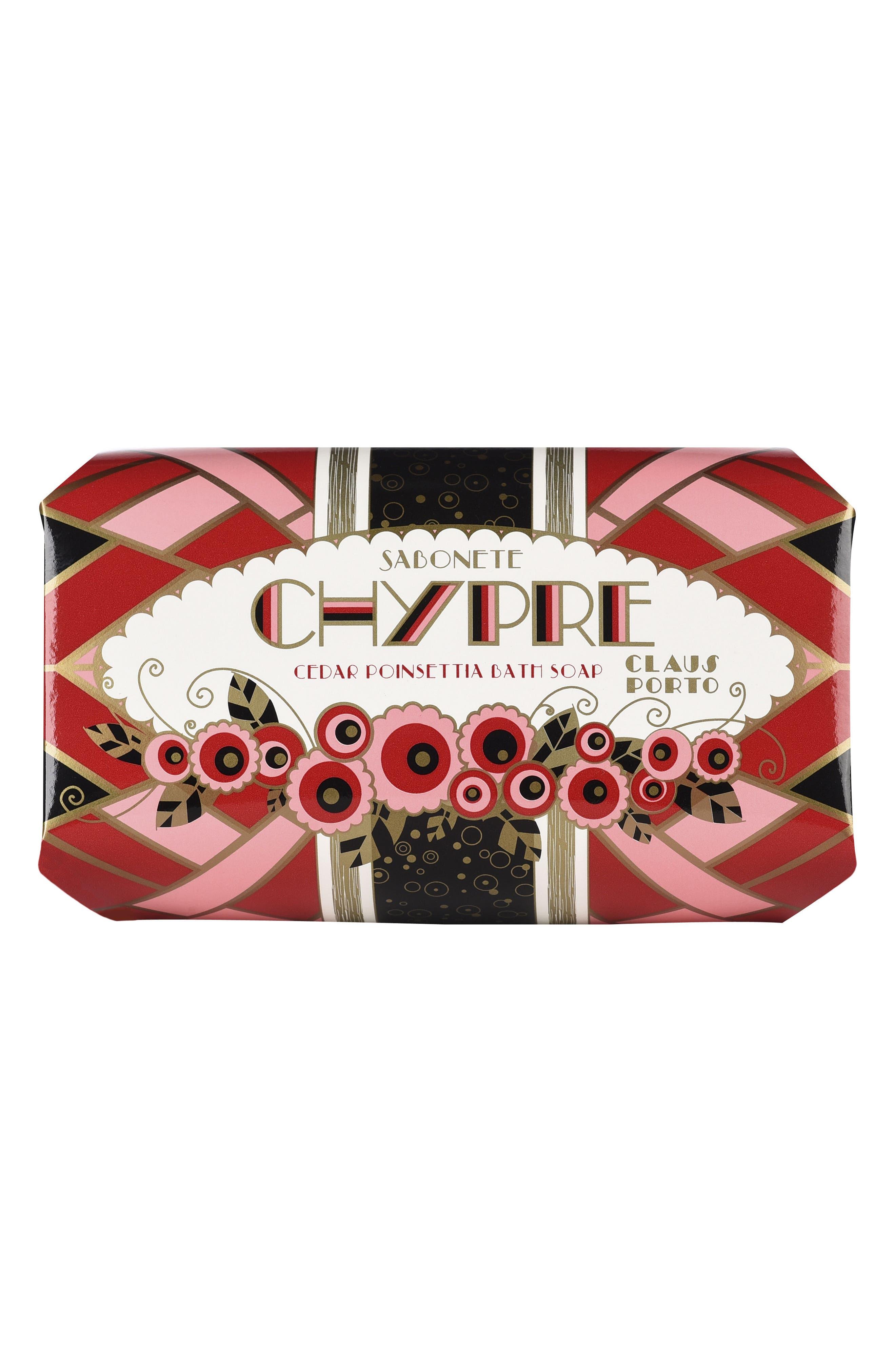 Chypre Cedar Poinsettia Bath Soap,                             Alternate thumbnail 2, color,                             No Color