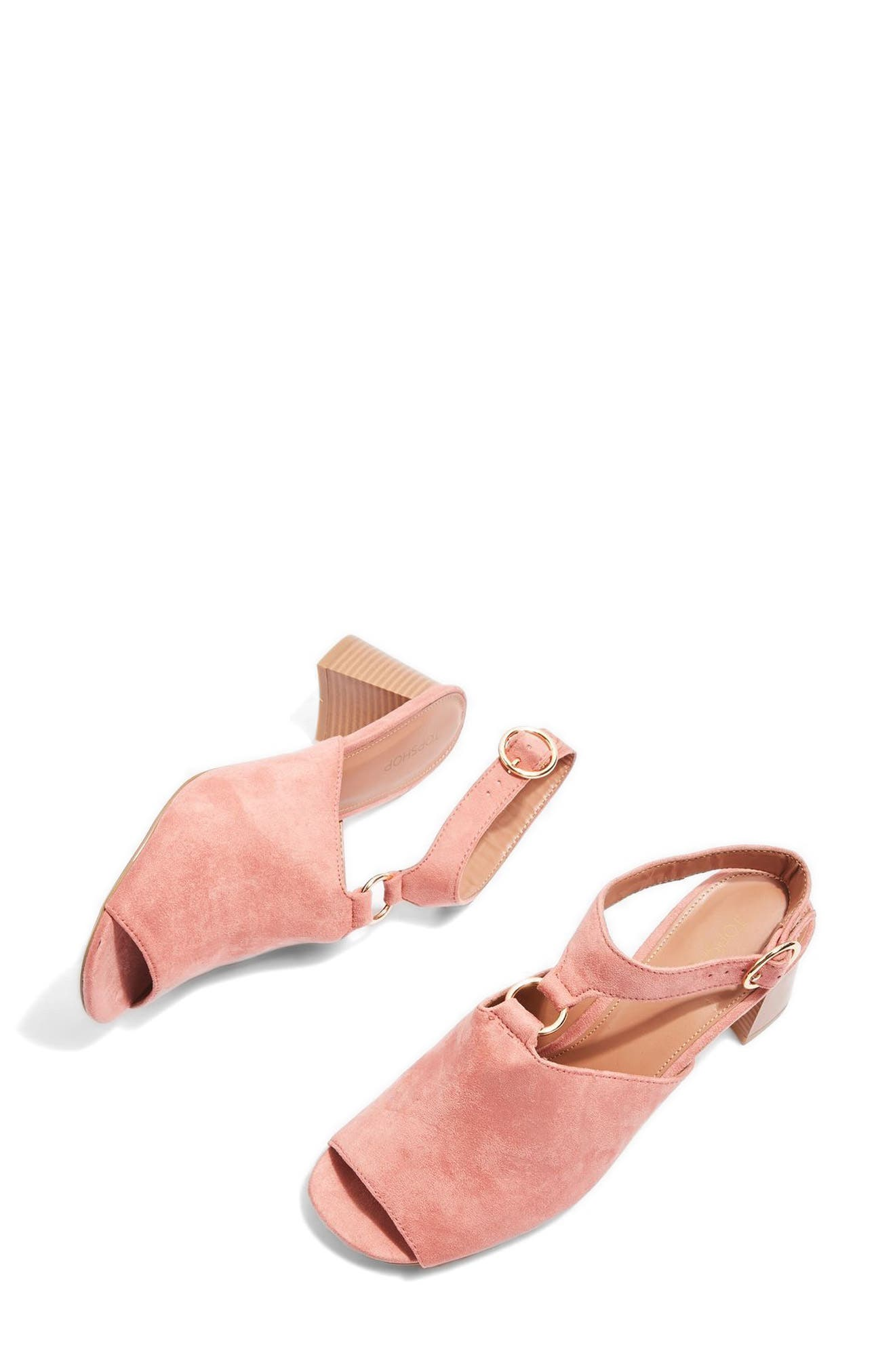 Topshop Dazzle Ring Front Sandal (Women)