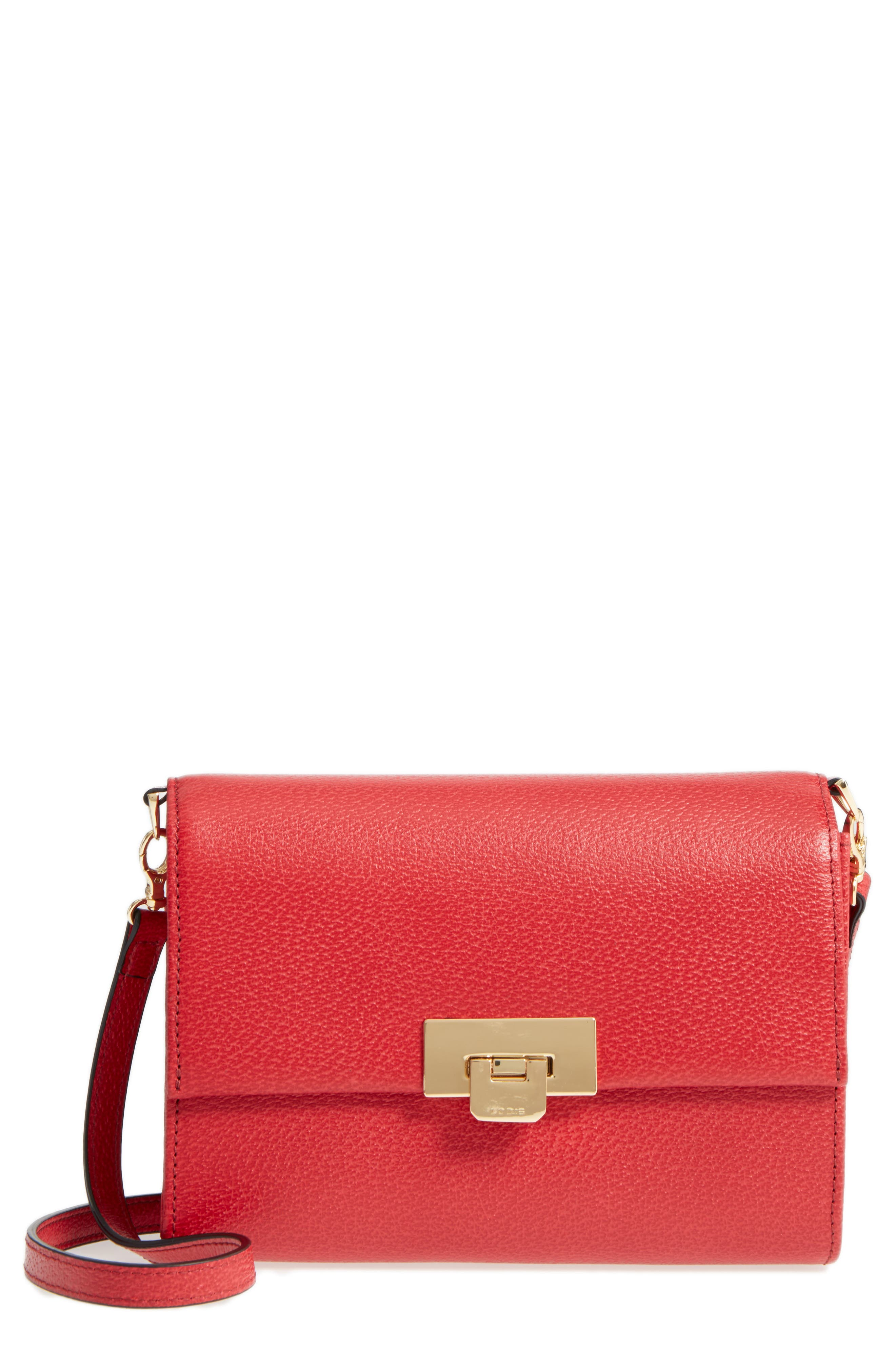 Lodis Stephanie Under Lock & Key - Small Eden Leather Crossbody Bag