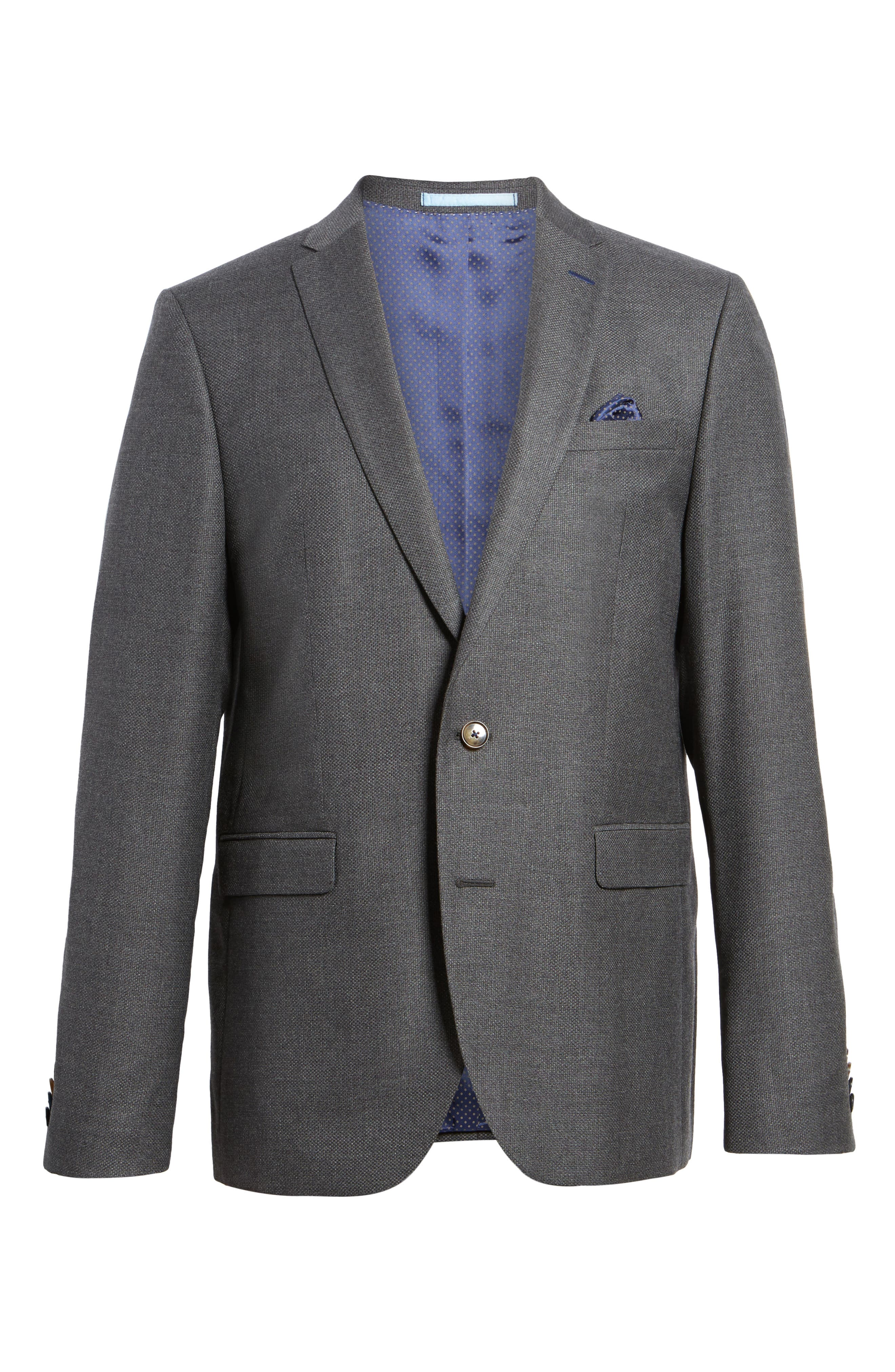 Alternate Image 6  - Sand Trim Fit Wool Blazer