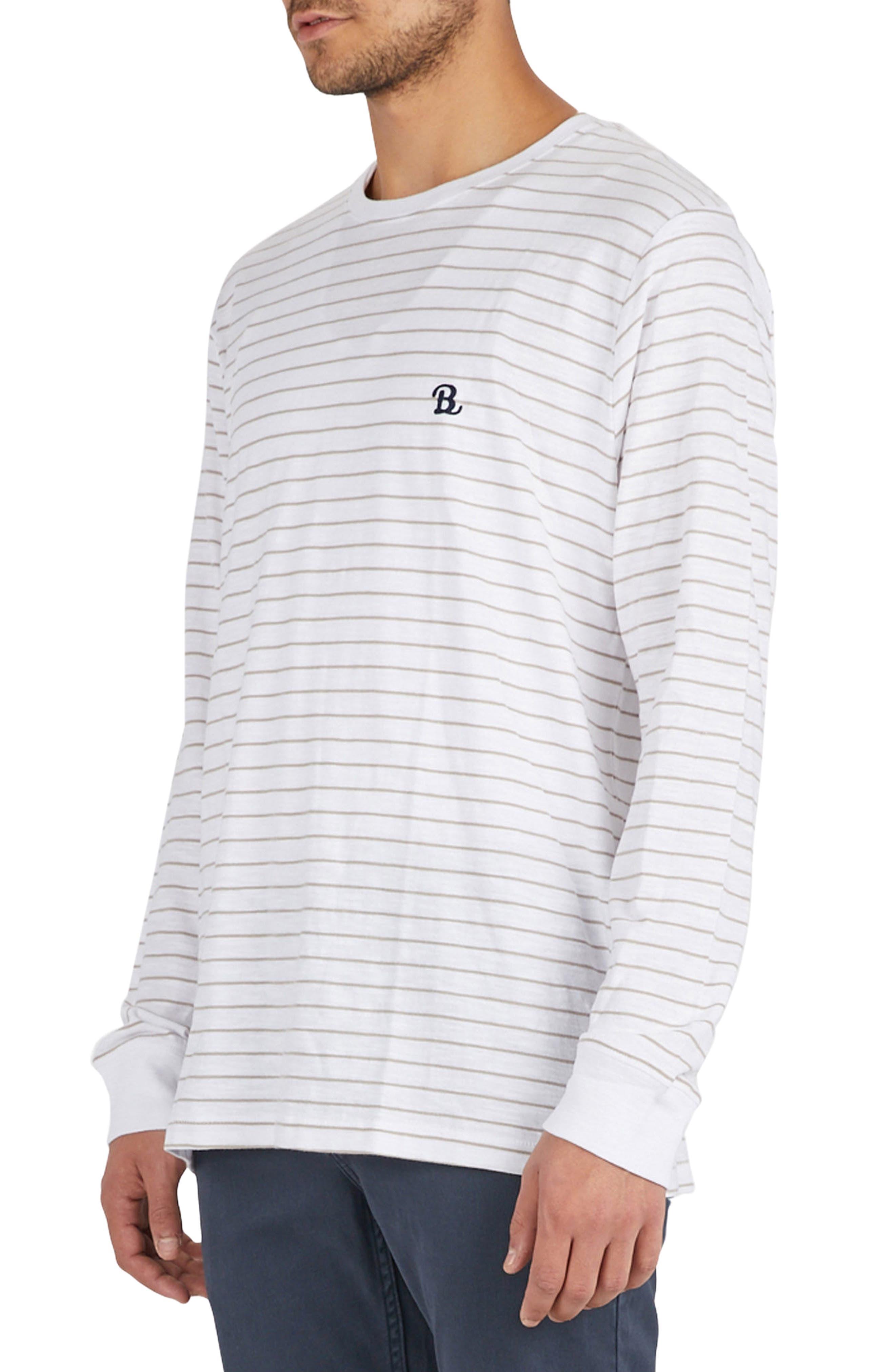 B. Schooled T-Shirt,                             Alternate thumbnail 4, color,                             Beige Stripe