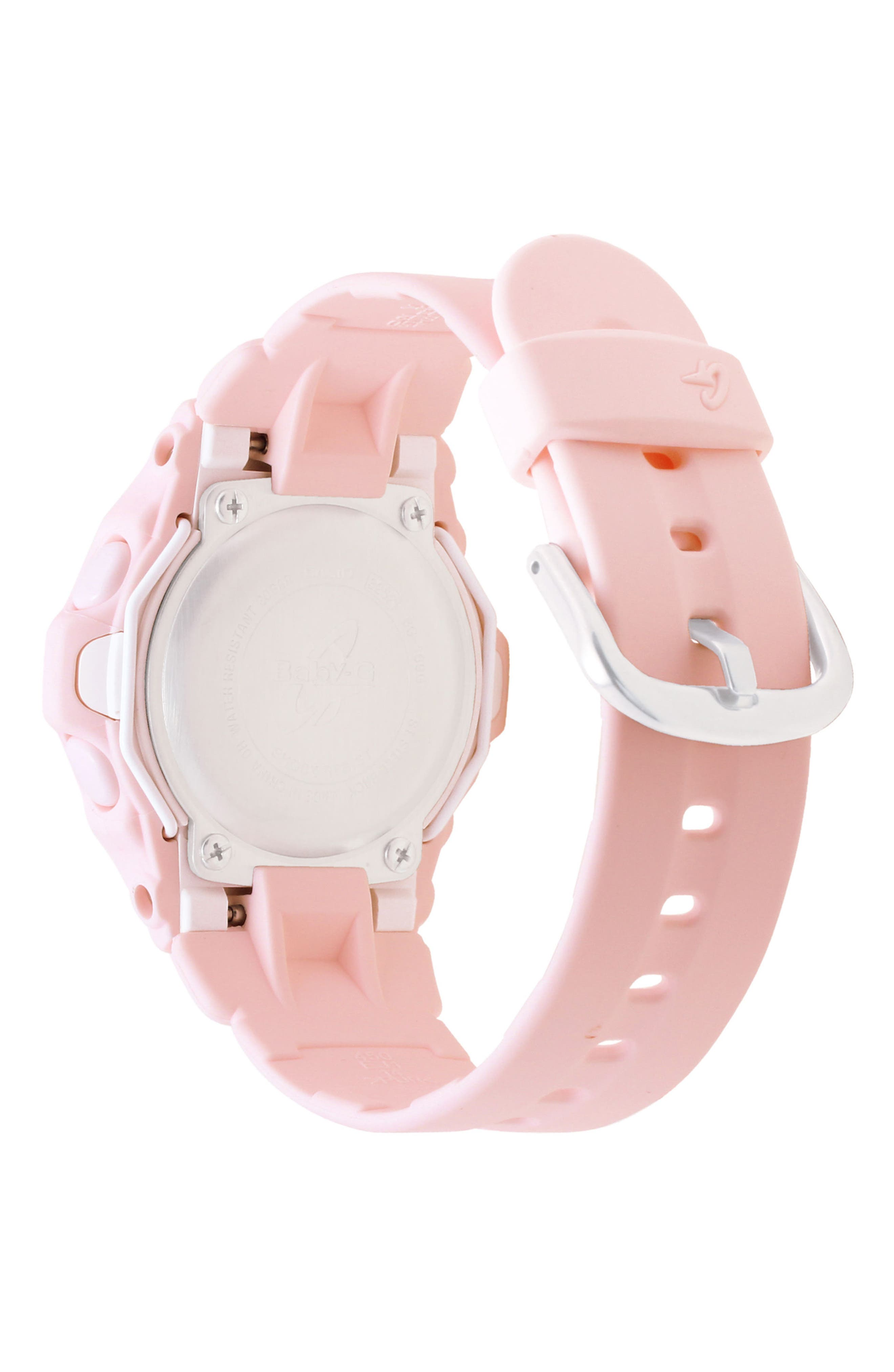 Resin Ana-Digi Watch, 42.6mm,                             Alternate thumbnail 2, color,                             Pink
