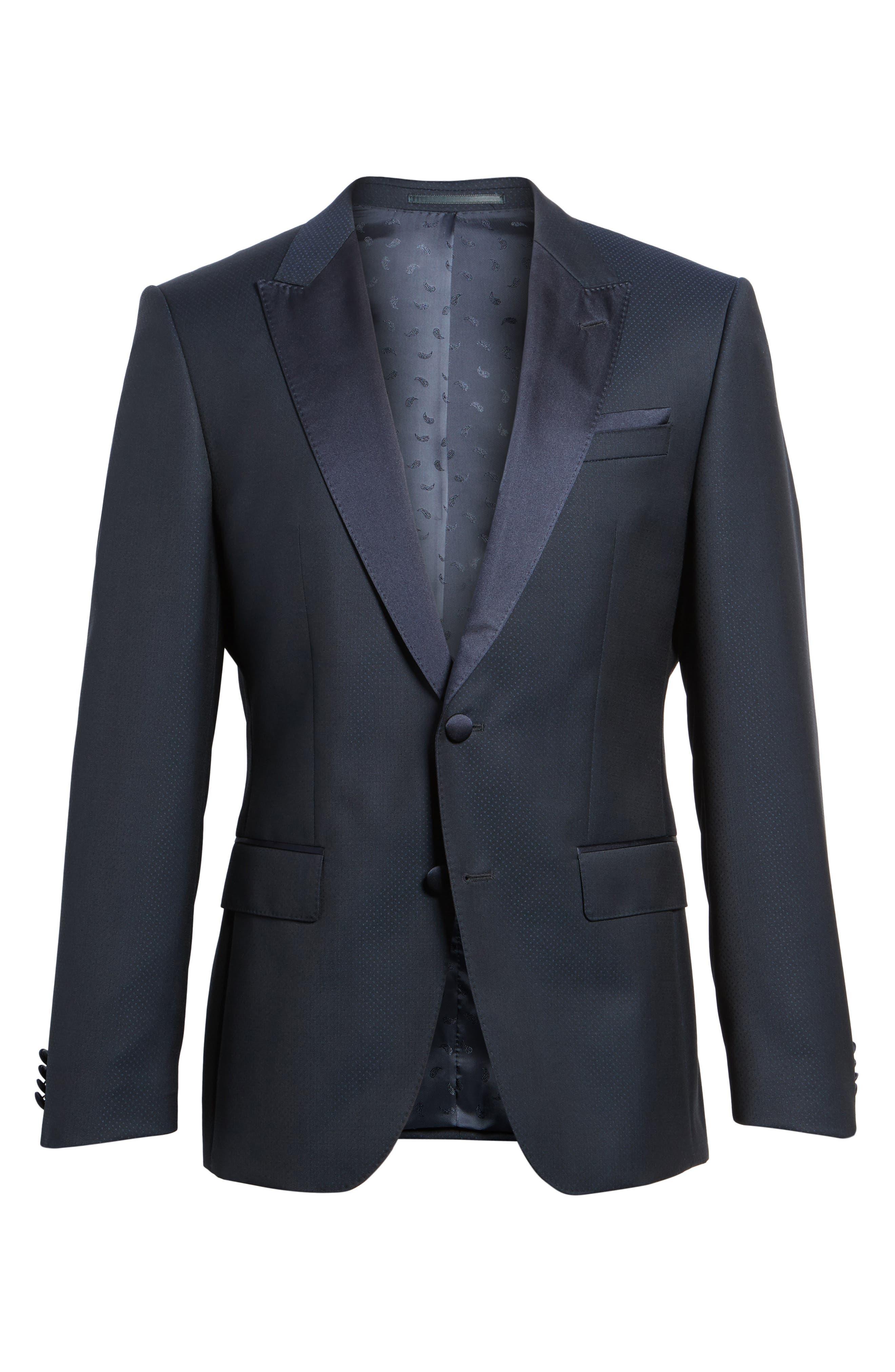 Alternate Image 6  - BOSS Helward Trim Fit Wool Dinner Jacket