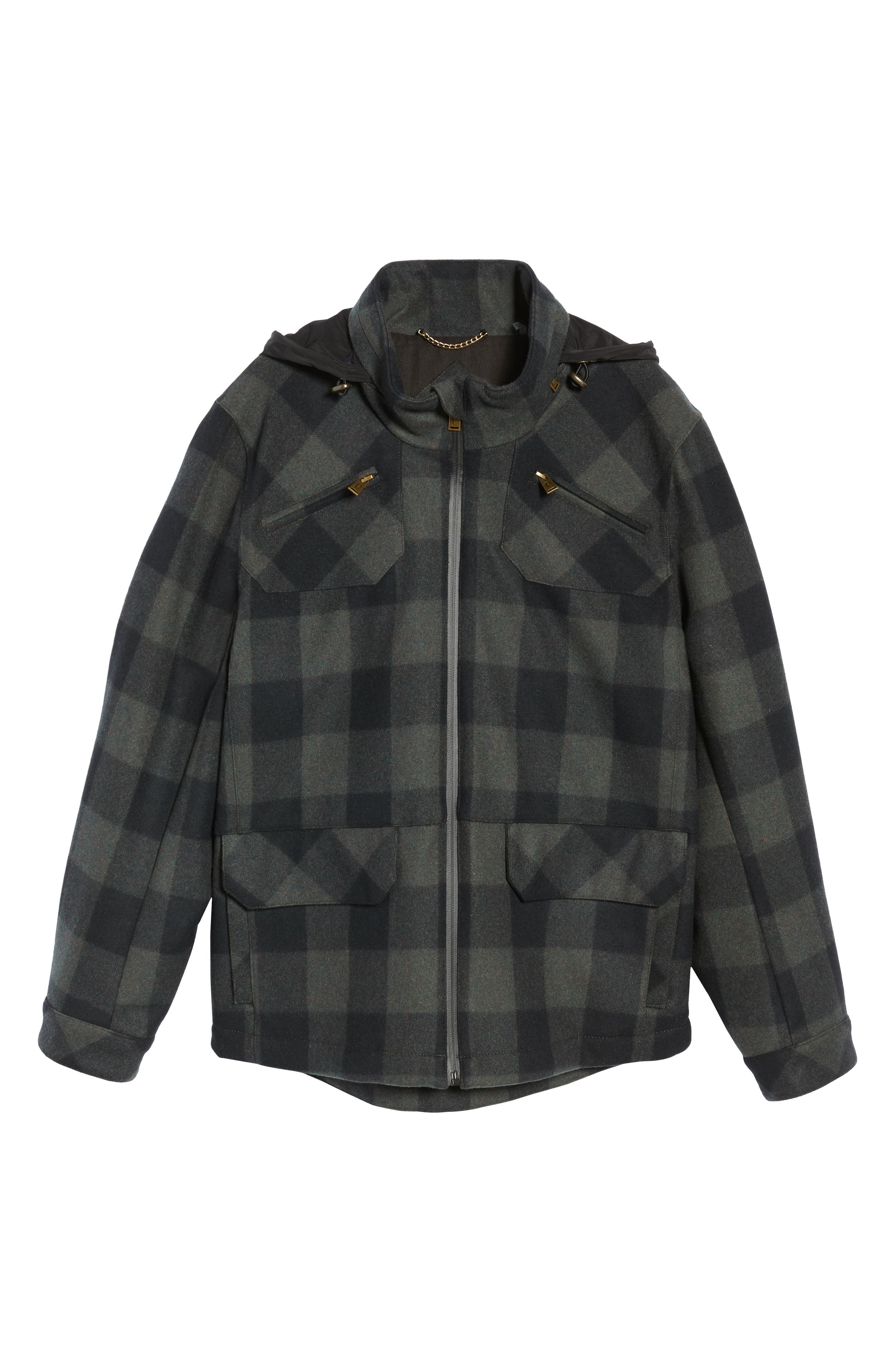 Albuquerque Jacket,                             Alternate thumbnail 6, color,                             Olive Buffalo Plaid