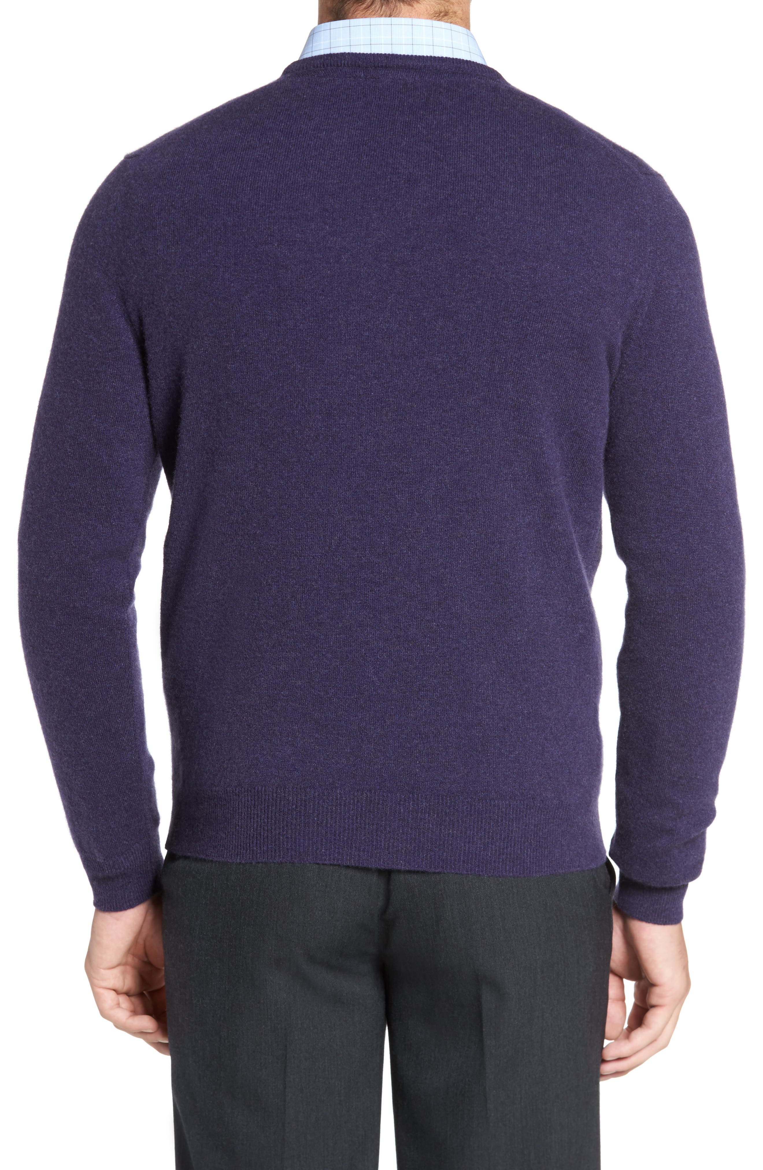 Alternate Image 2  - David Donahue Cashmere V-Neck Sweater