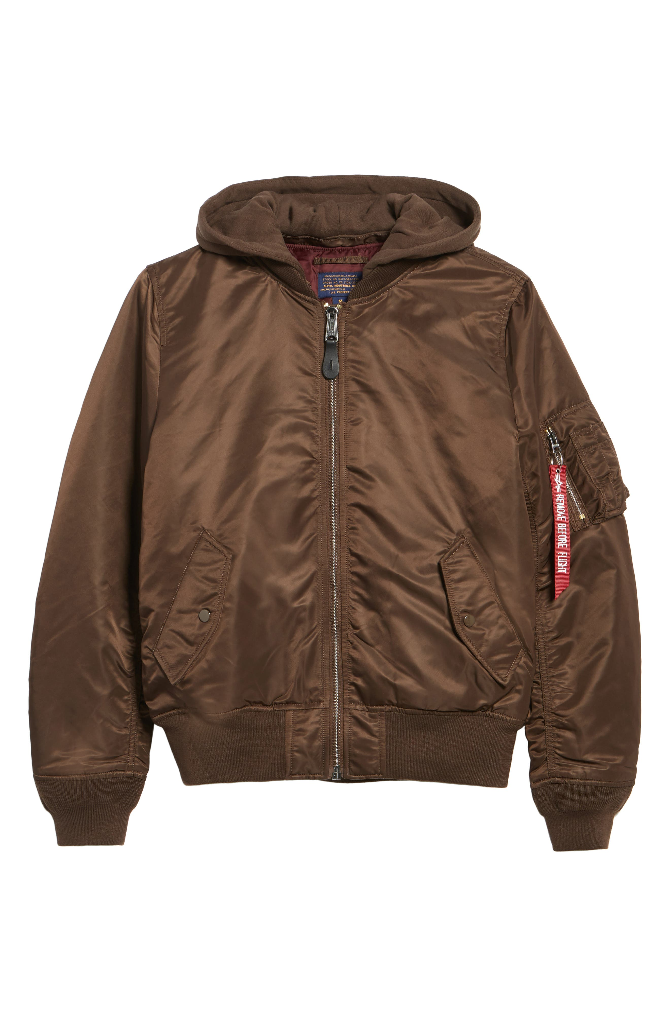 Alternate Image 6  - Alpha Industries MA-1 Natus Hooded Bomber Jacket