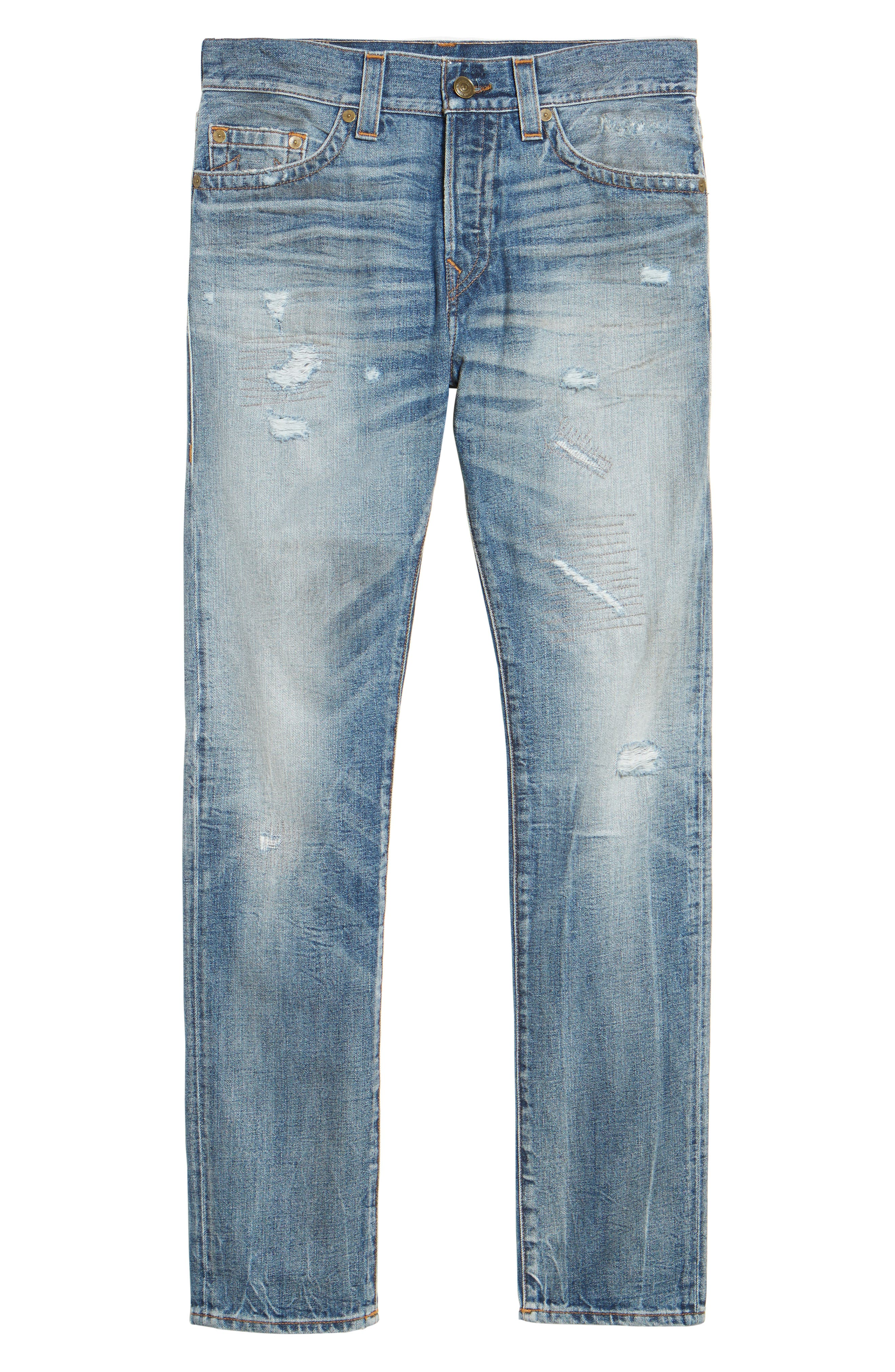 Alternate Image 6  - True Religion Brand Jeans Logan Slim Straight Fit Jeans (Mended Street Brawl)
