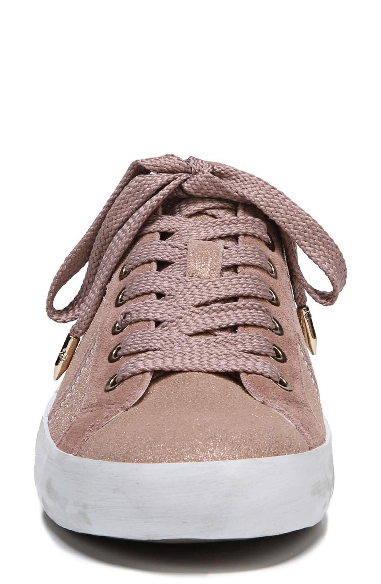 Baylee Sneaker,                             Alternate thumbnail 5, color,                             Blush Suede