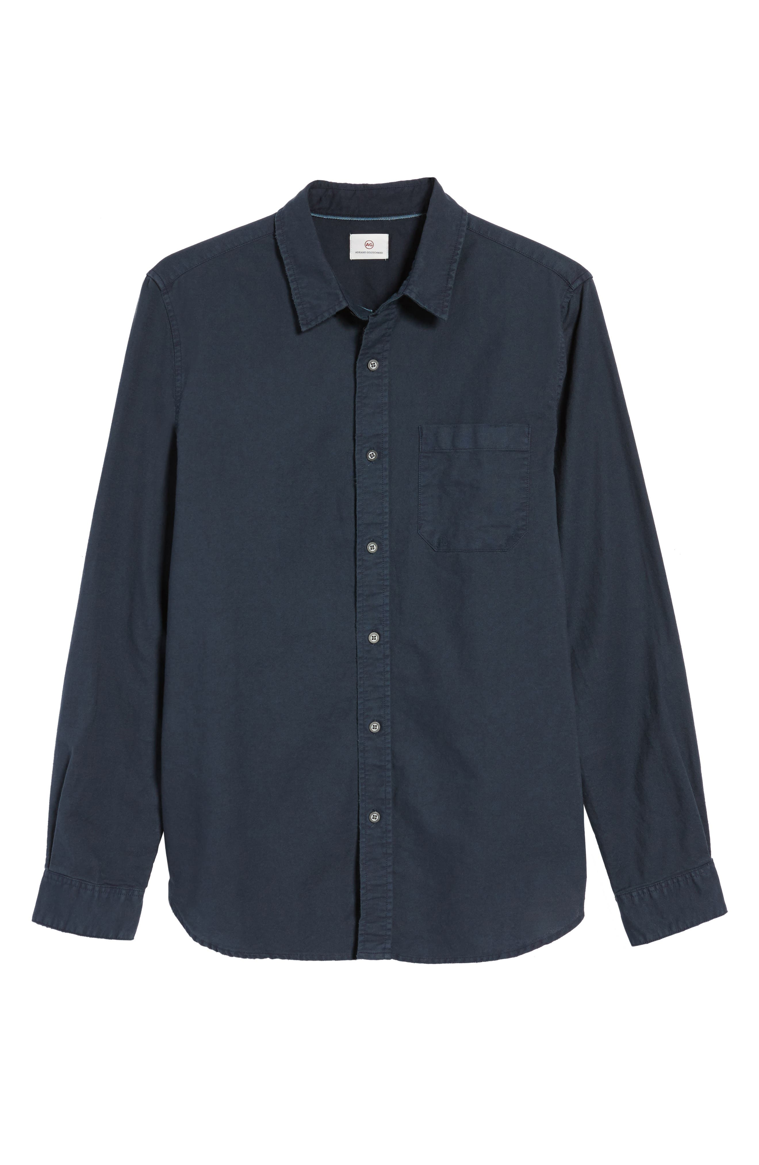 Alternate Image 6  - AG Caleb Slim Fit Twill Sport Shirt