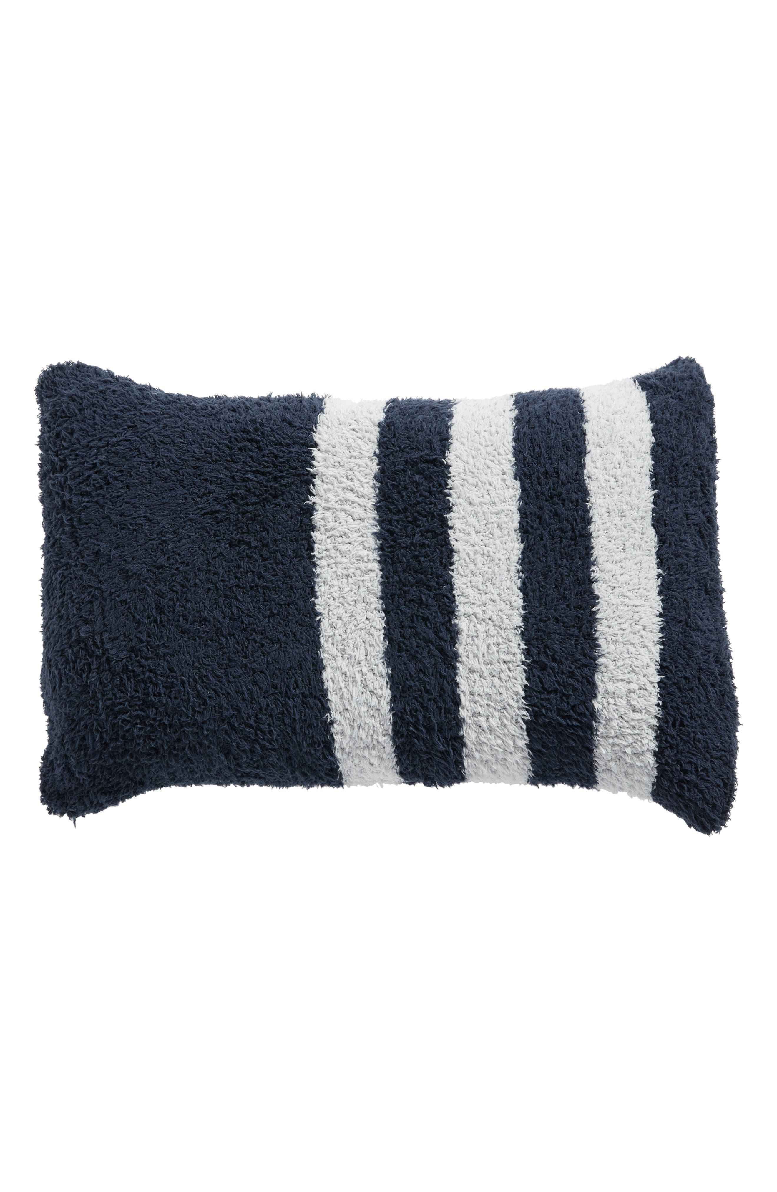 Cozychic<sup>®</sup> Tri-Stripe Accent Pillow,                         Main,                         color, Indigo/ Ocean
