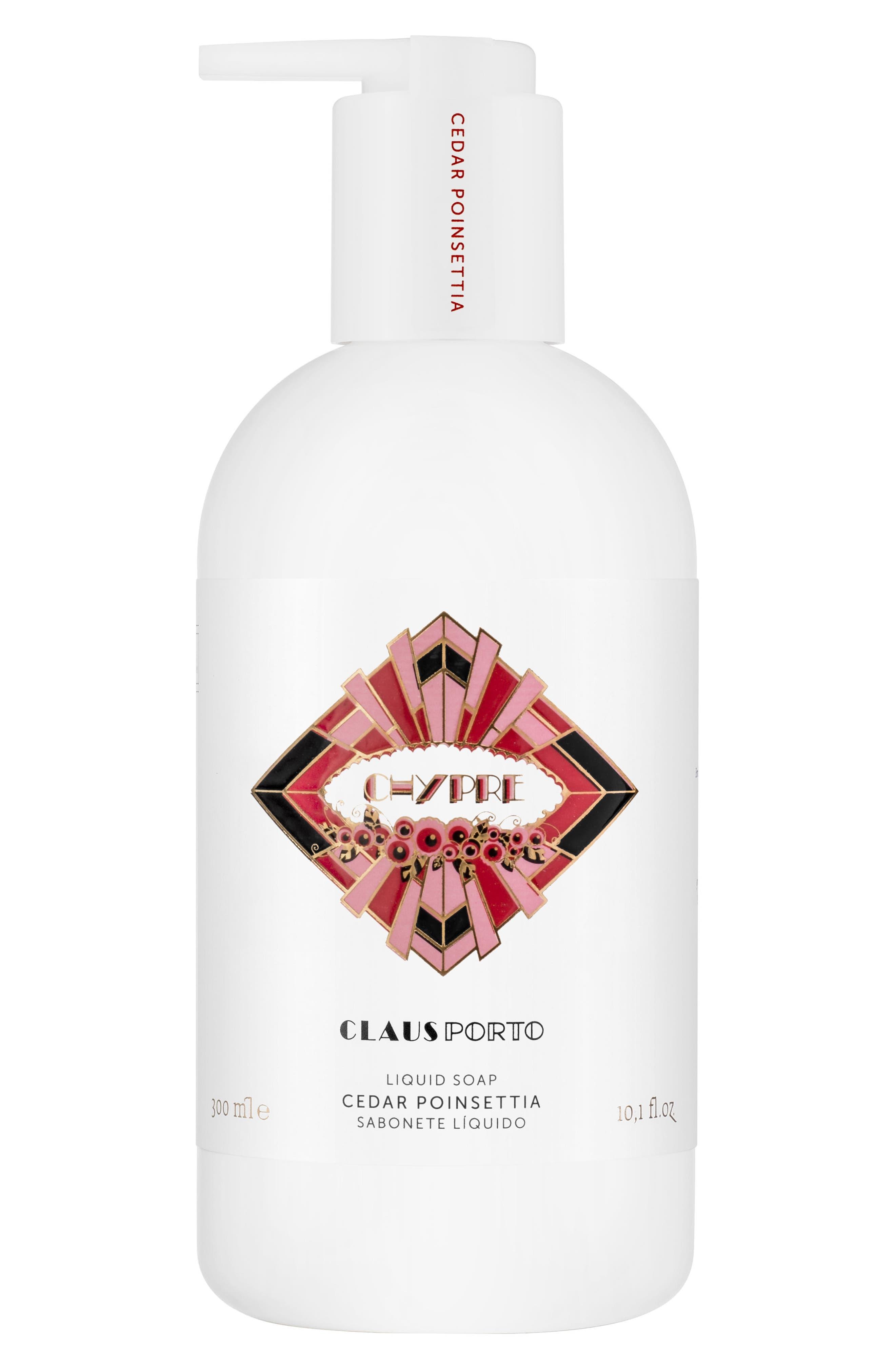 Main Image - Claus Porto Chypre Cedar Poinsettia Liquid Soap