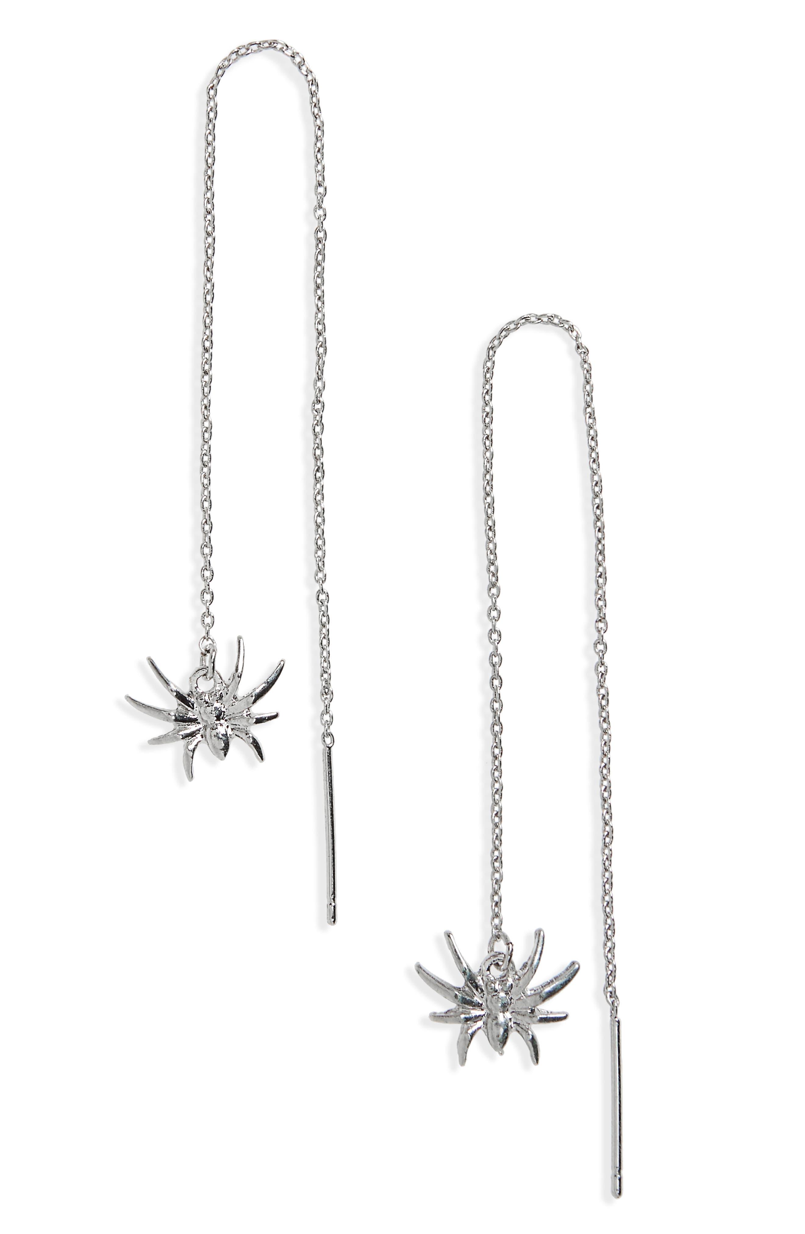 Topshop Spider Thread Through Earrings