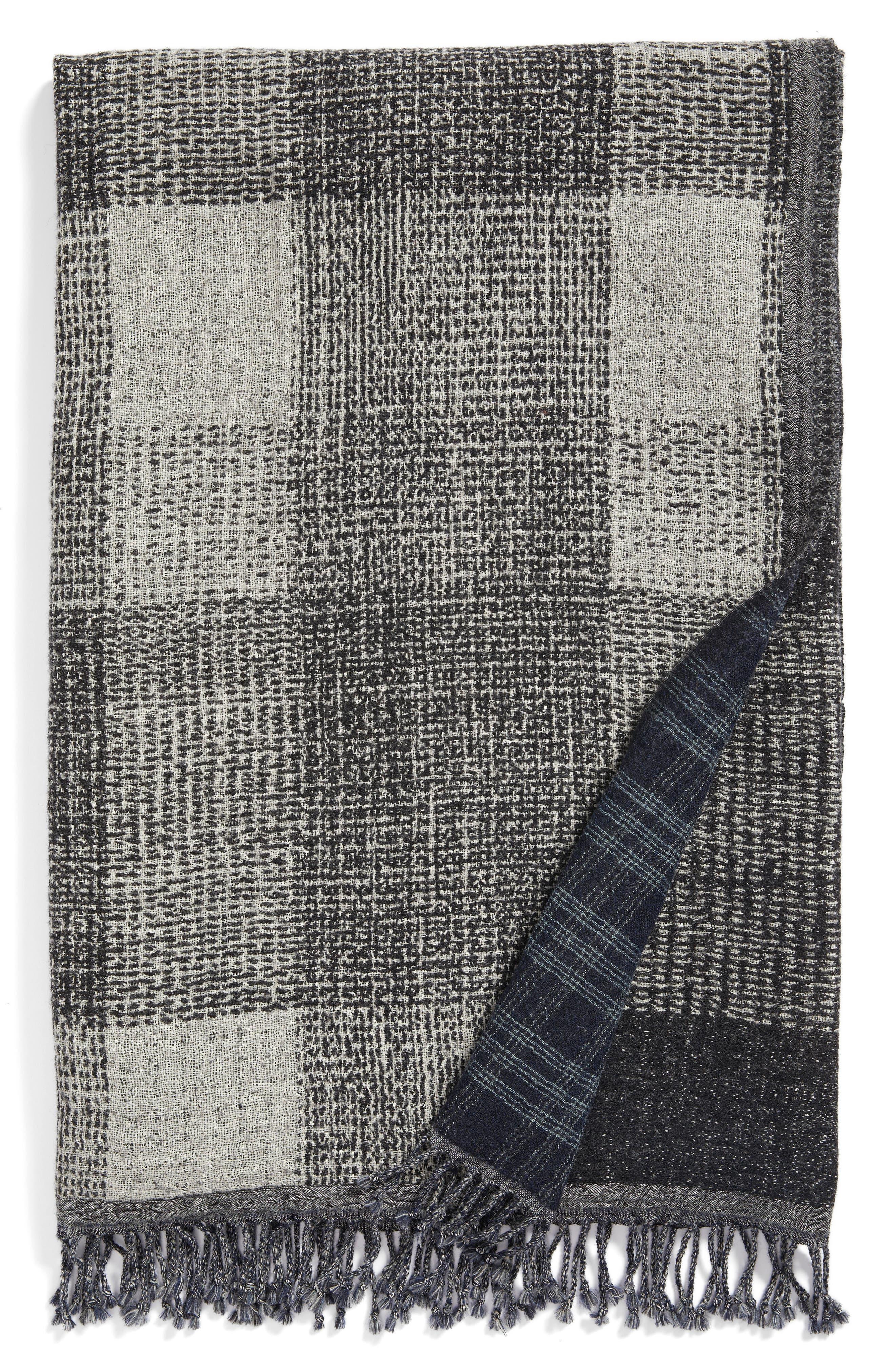 Deskloom Double Face Merino Wool Throw,                         Main,                         color, Deskloom