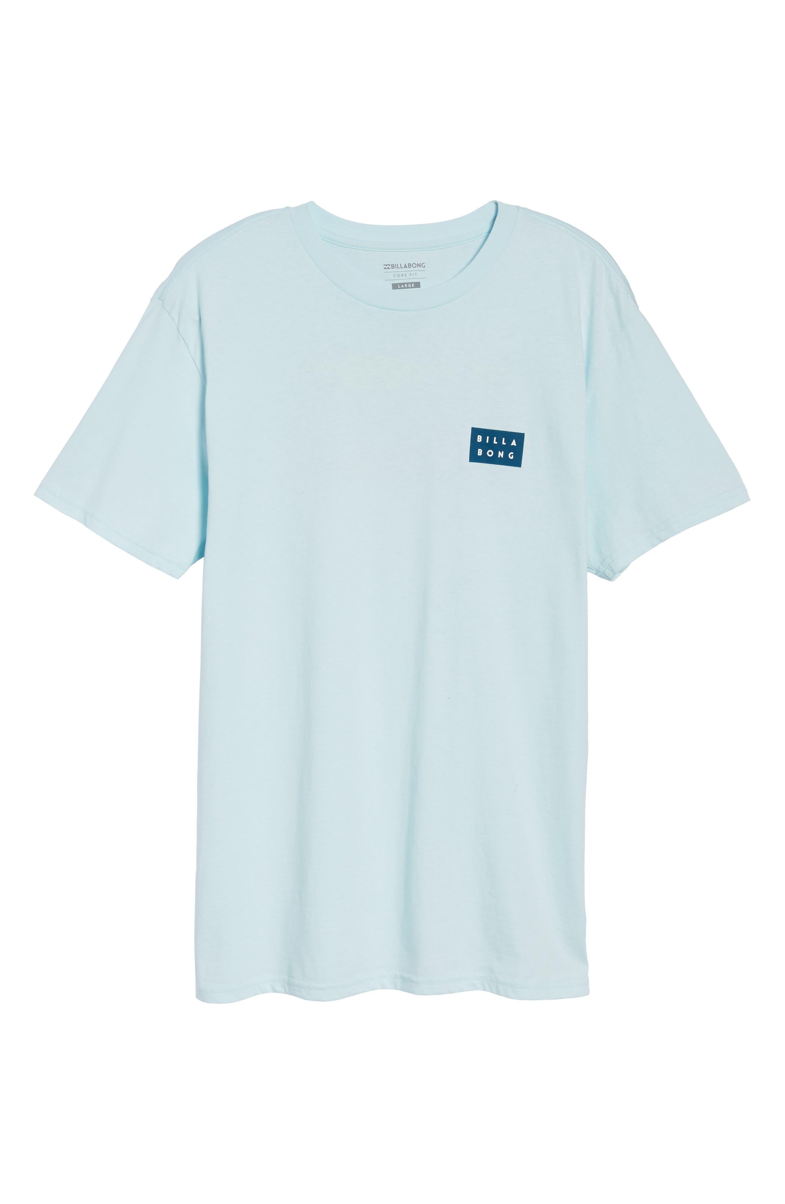 Die Cut Graphic T-Shirt,                             Alternate thumbnail 6, color,                             Coastal Blue