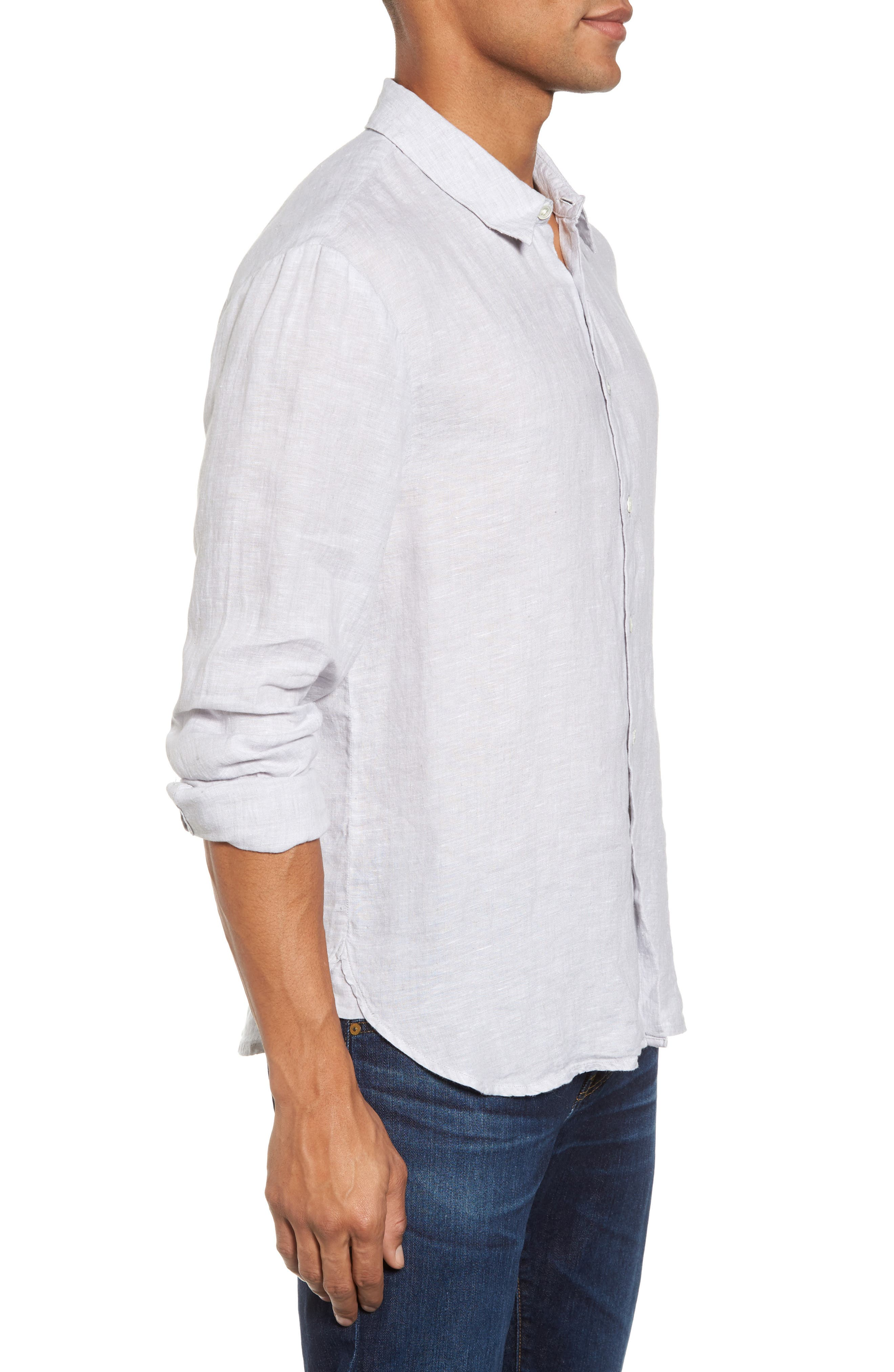 Alternate Image 3  - James Perse Slim Fit Linen Sport Shirt
