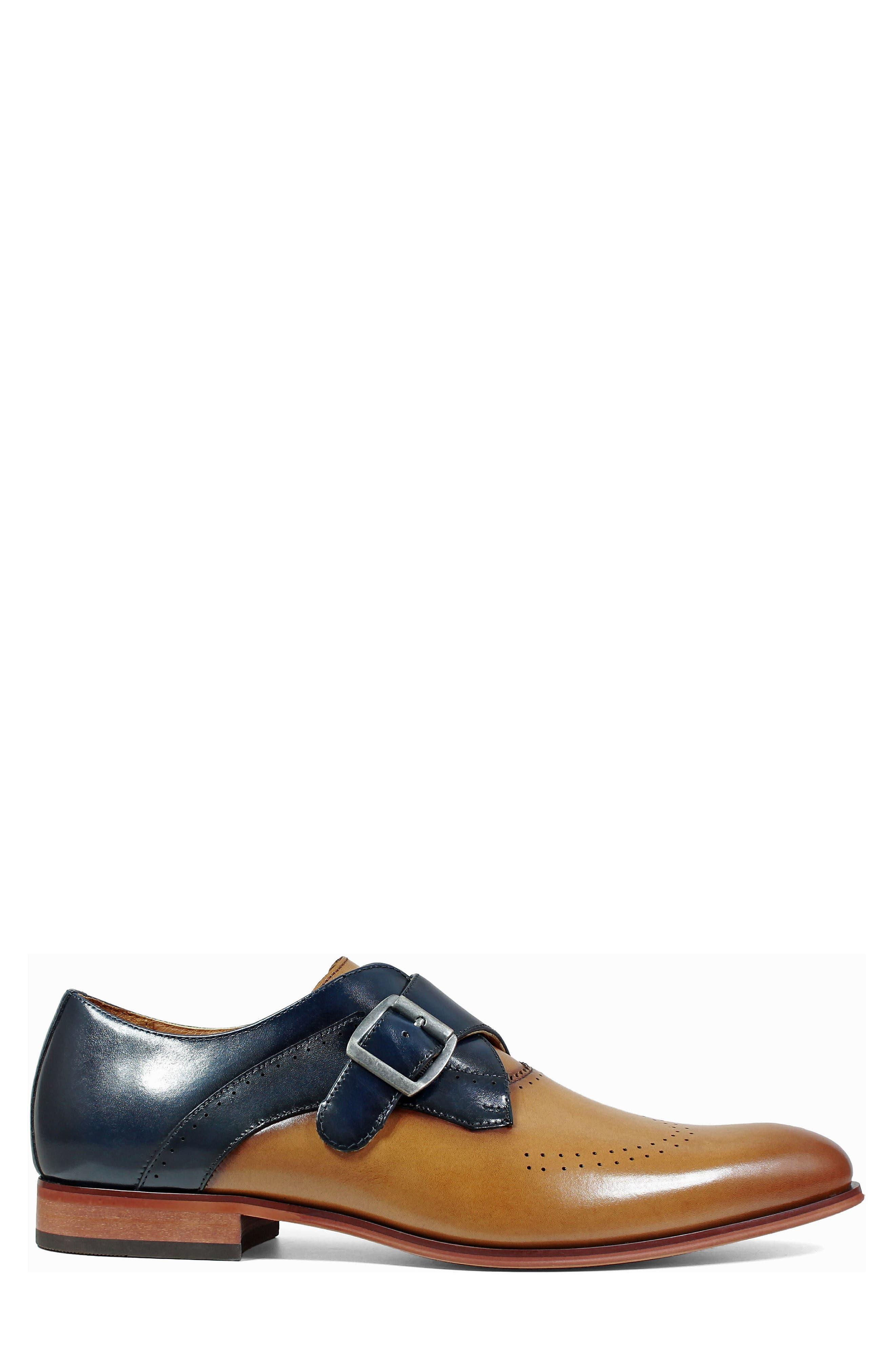 Alternate Image 3  - Stacy Adams Saxon Perforated Monk Shoe (Men)