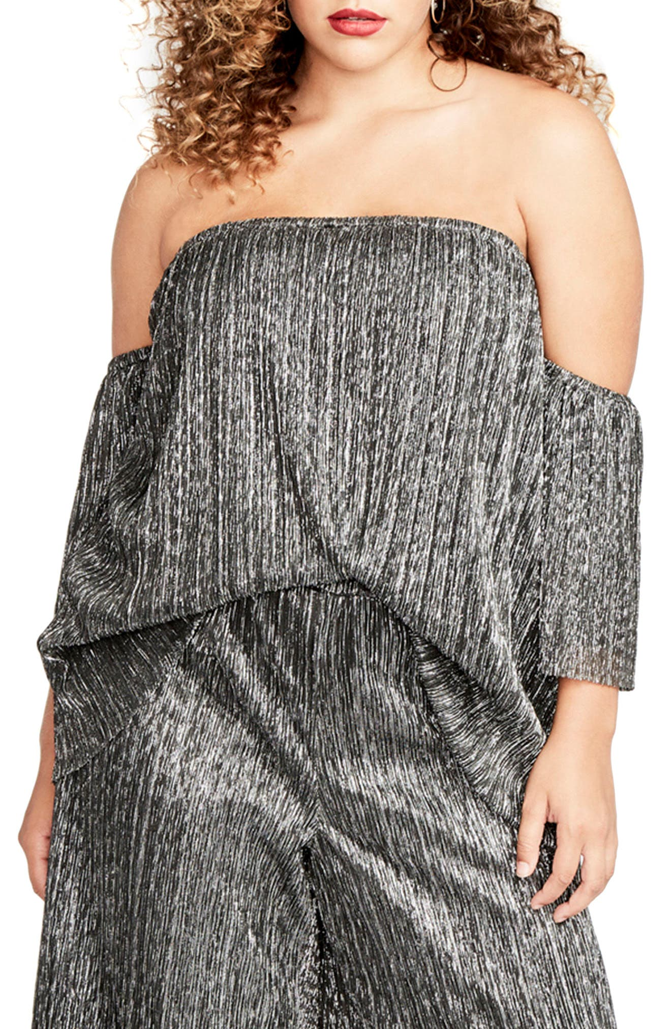Raw Edge Off the Shoulder Top,                         Main,                         color, Black Combo