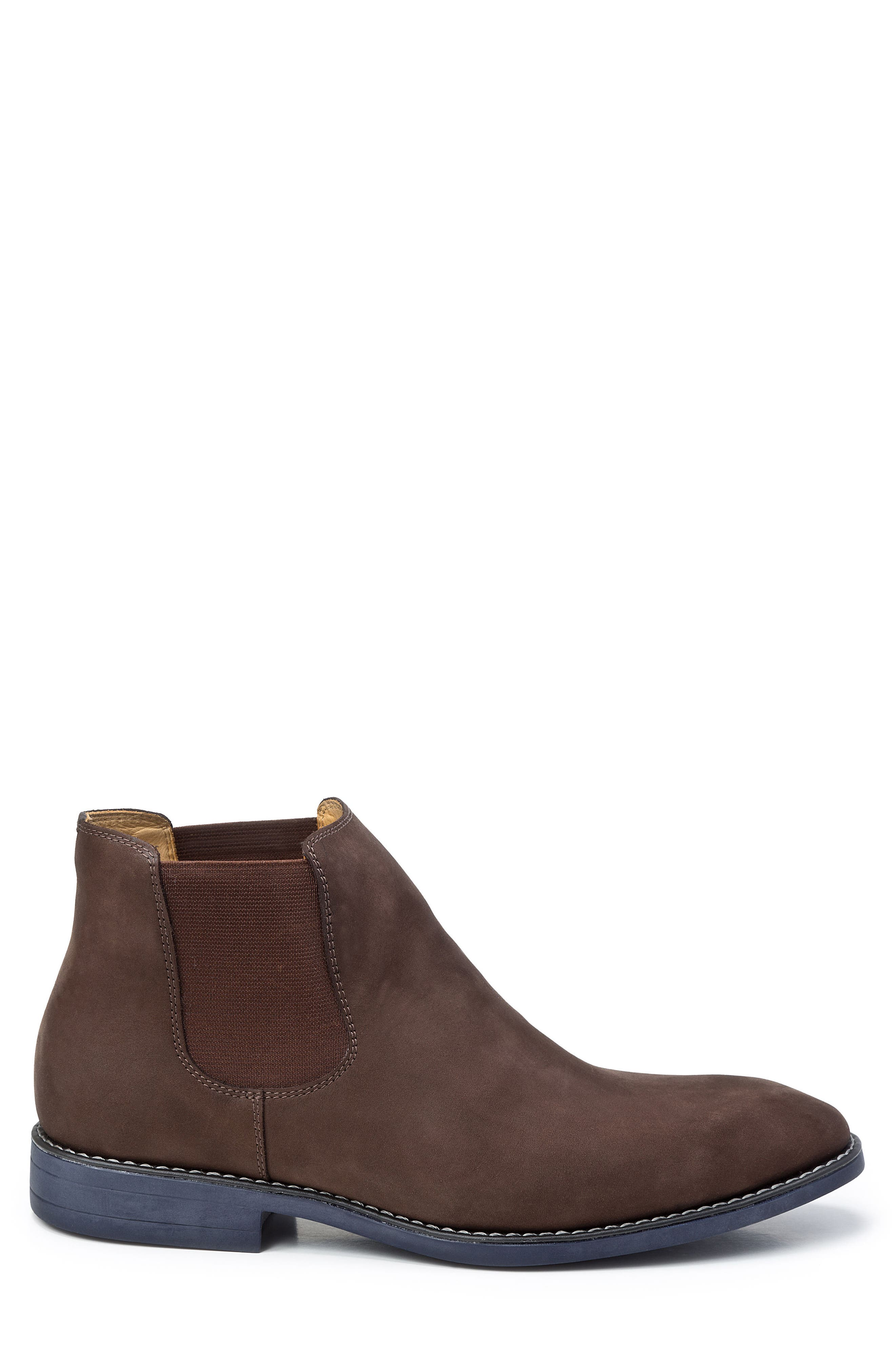 Marcus Chelsea Boot,                             Alternate thumbnail 3, color,                             Brown Nubuck Leather