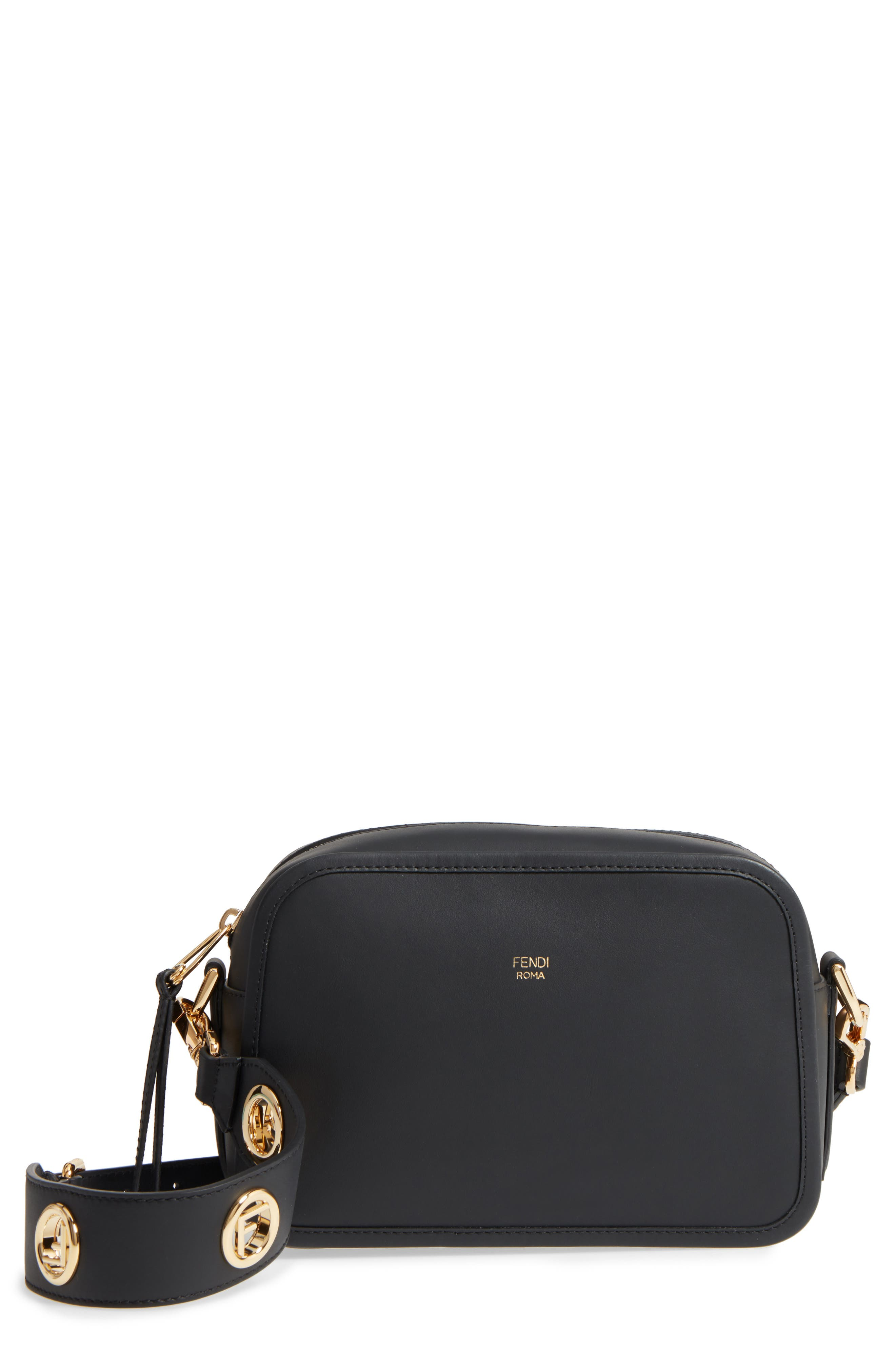 Fendi Logo Leather Camera Bag