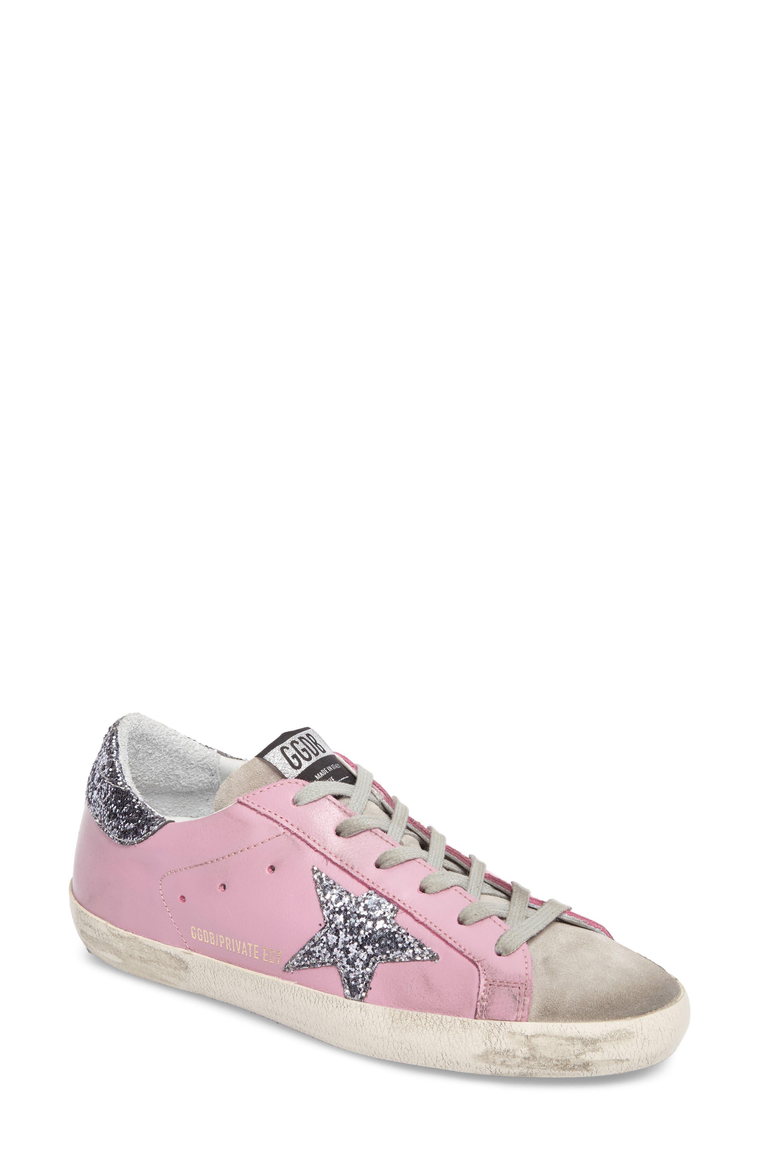 Superstar Low Top Sneaker,                             Main thumbnail 1, color,                             Pink/ Grey