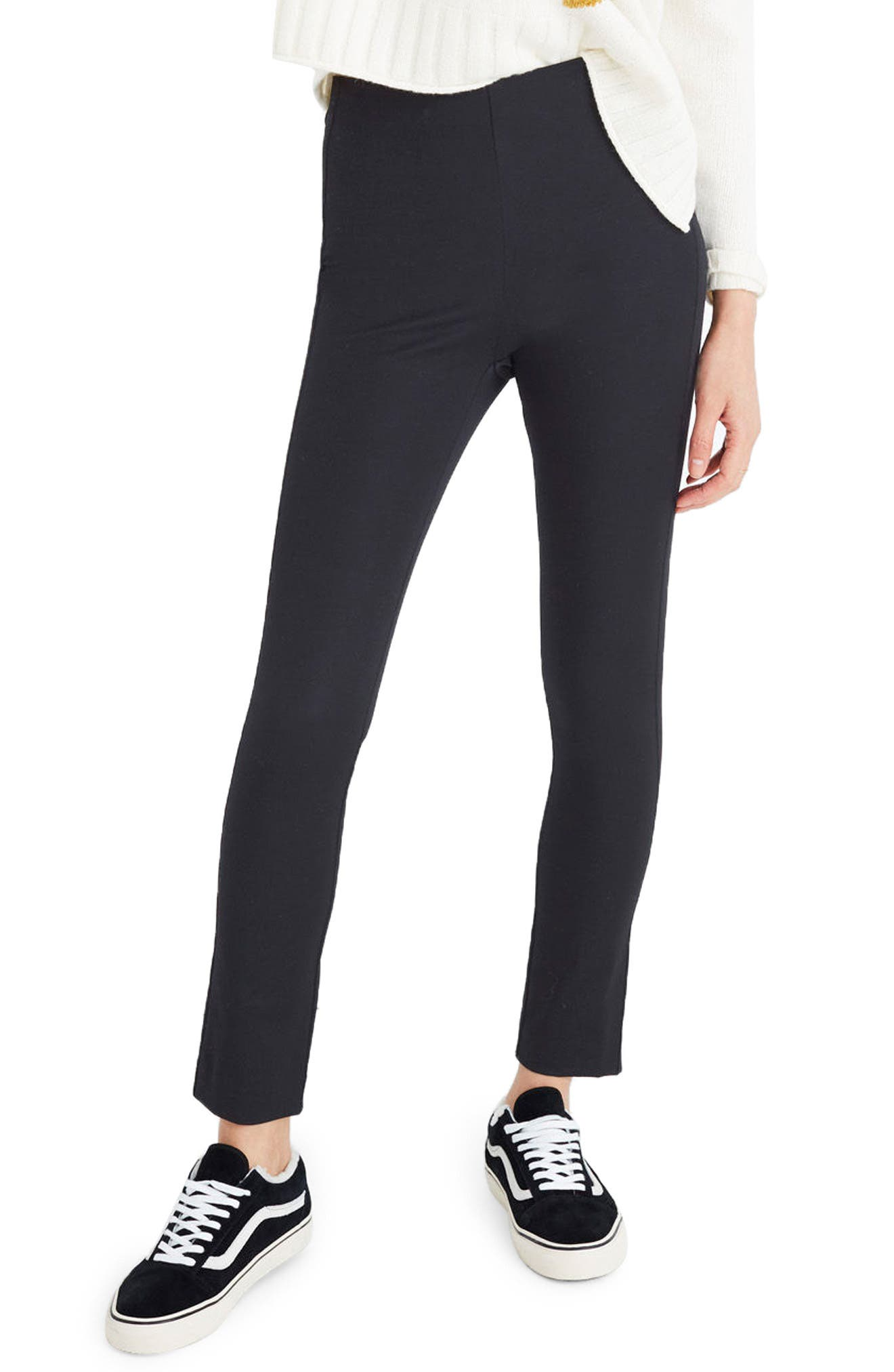 Fraser Slim Ponte Pants,                         Main,                         color, True Black