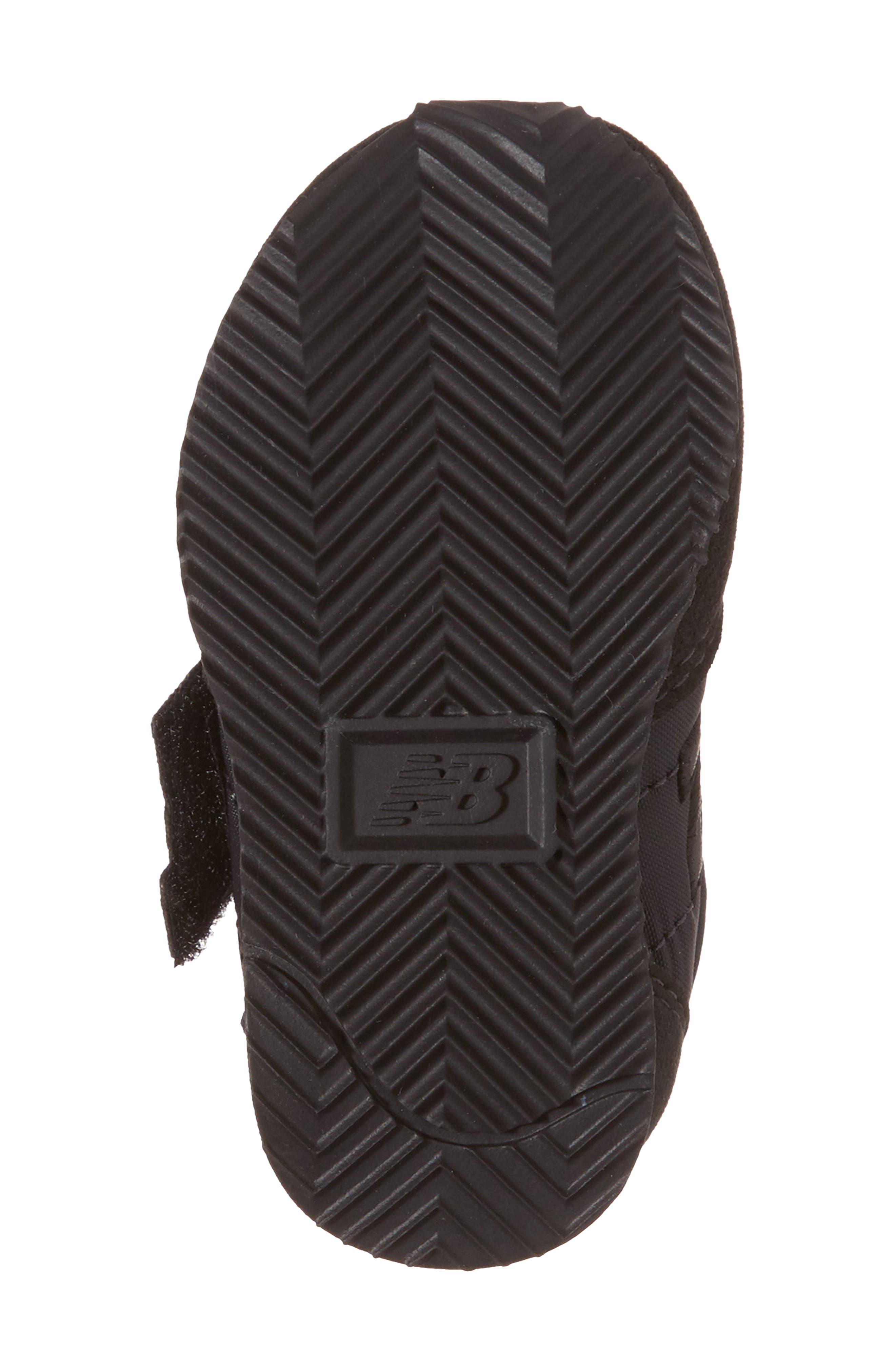 220 Hook and Loop Sneaker,                             Alternate thumbnail 6, color,                             Black