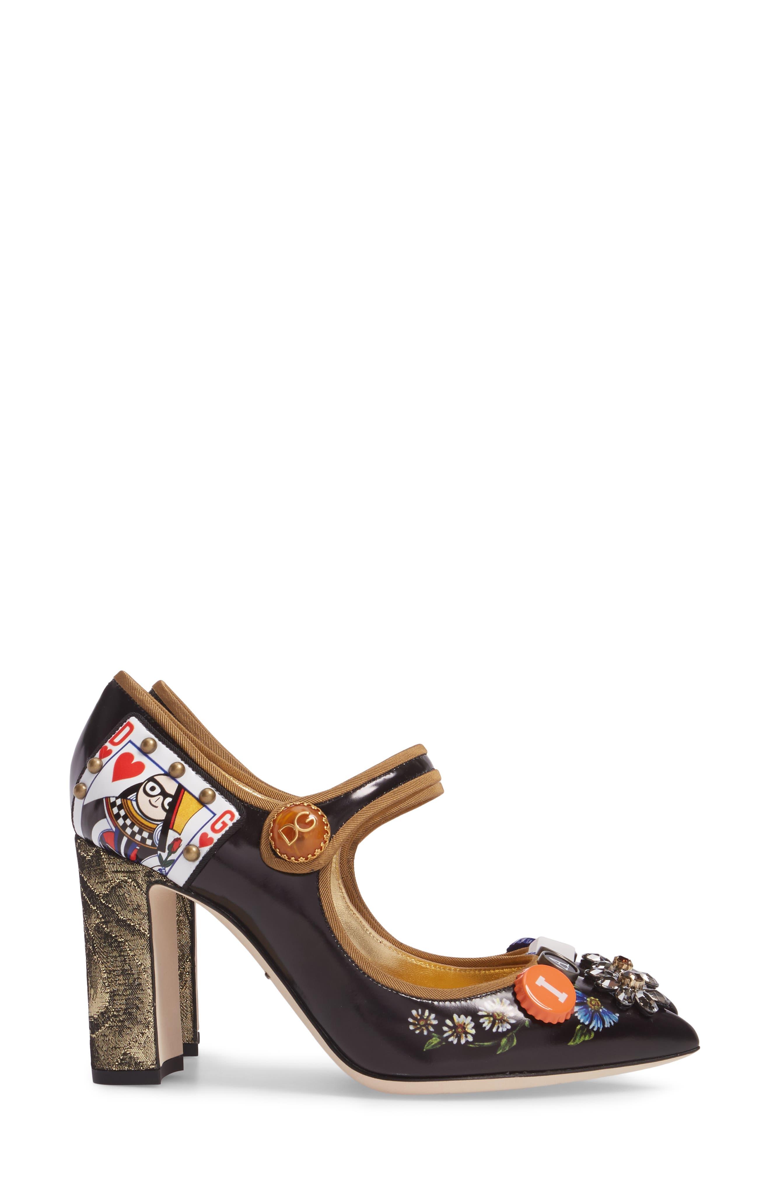 Alternate Image 4  - Dolce&Gabbana Embellished Mary Jane Pump (Women)