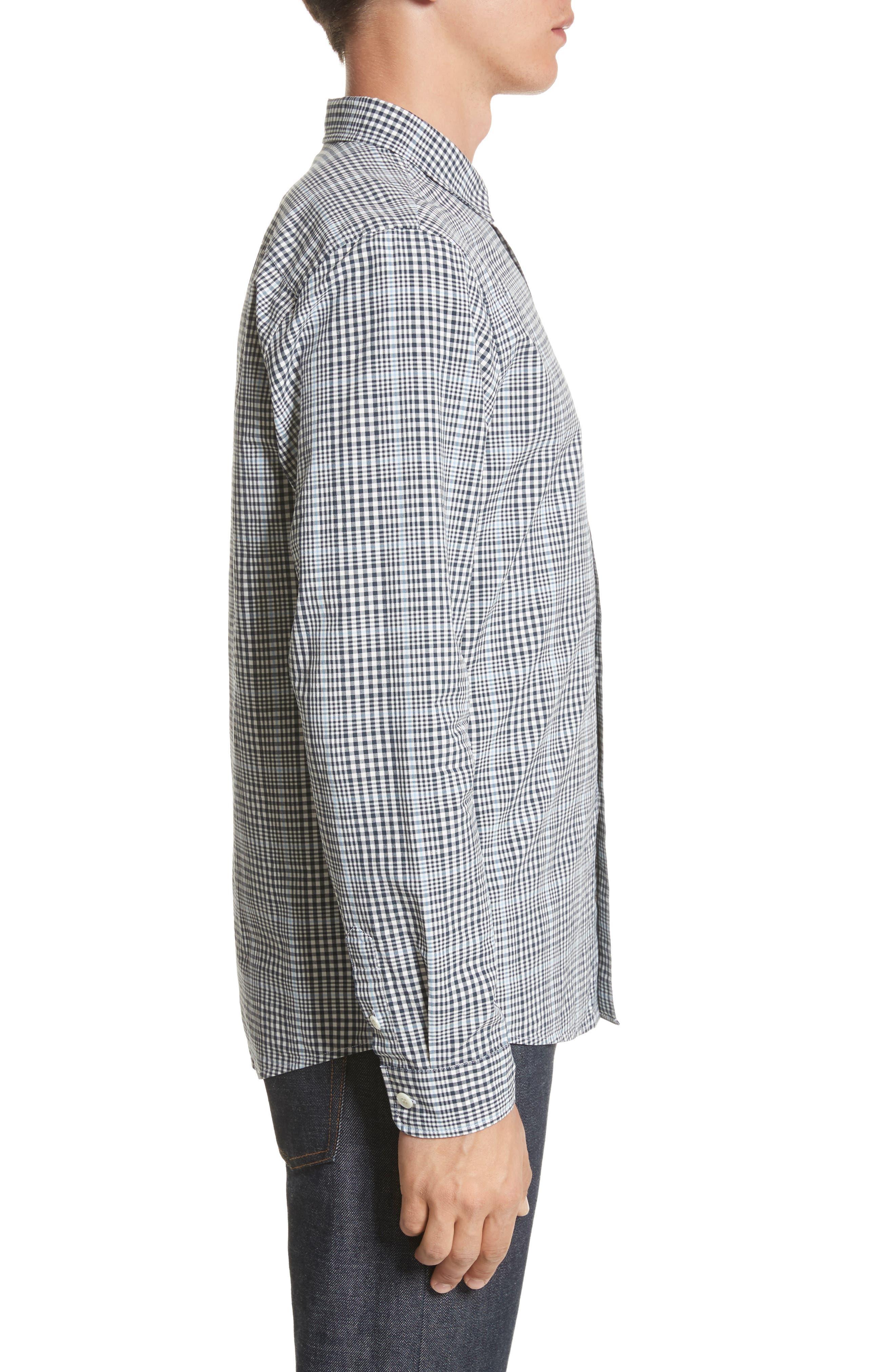 Alternate Image 3  - A.P.C. John Check Woven Shirt