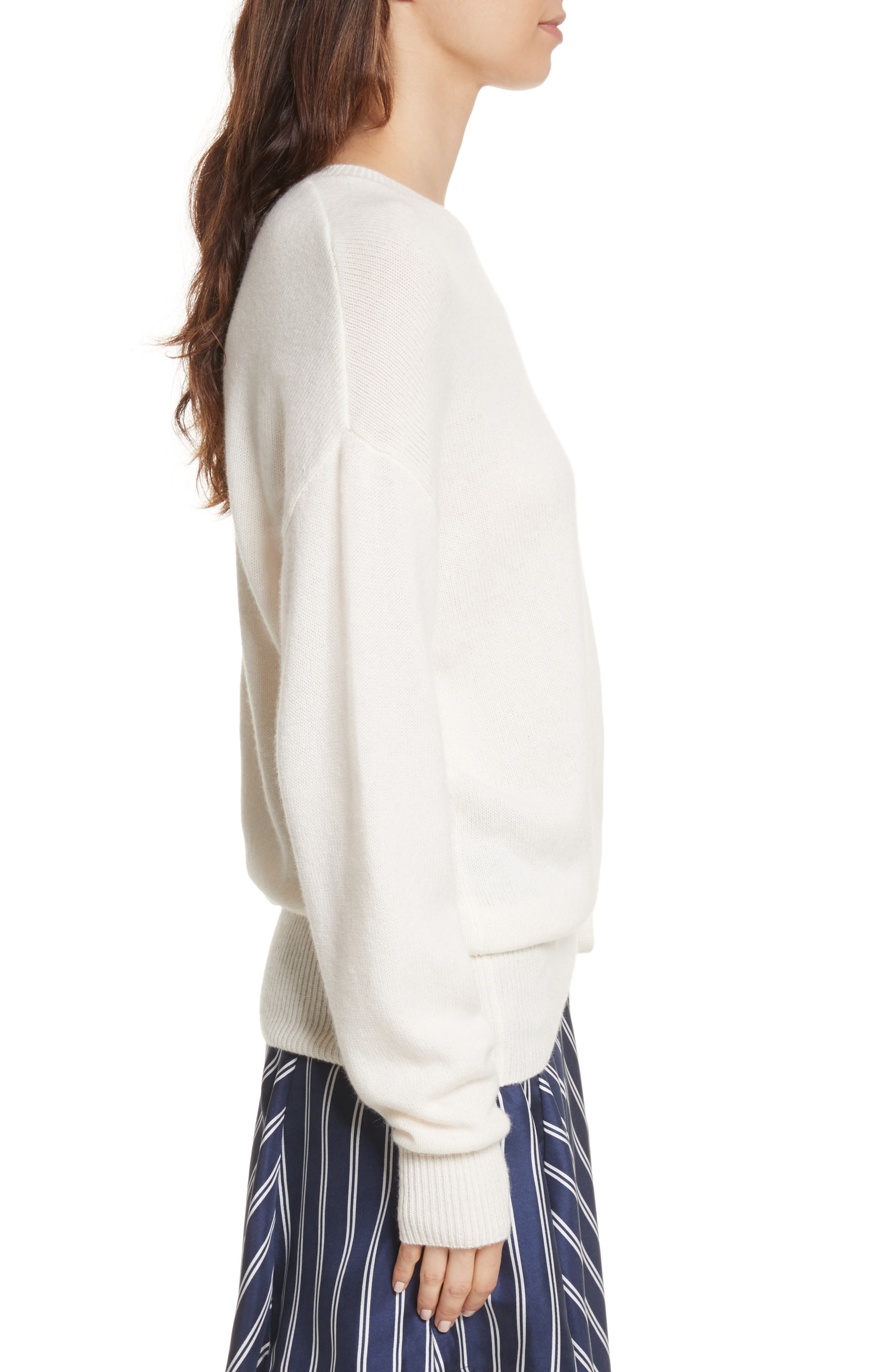 Iphis Wool & Cashmere Sweater,                             Alternate thumbnail 3, color,                             Porcelain